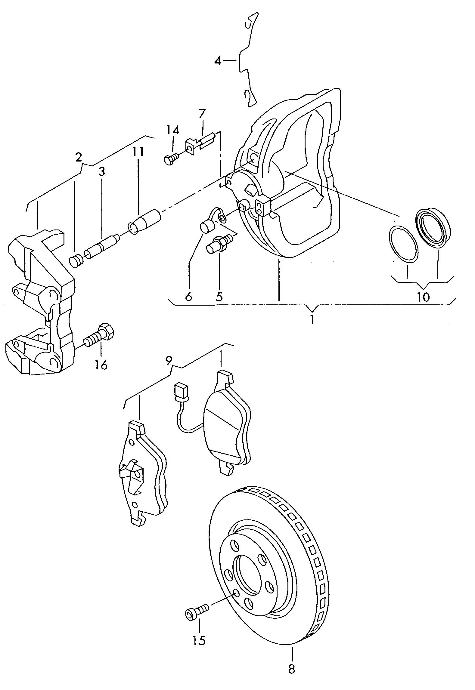 Volkswagen EuroVan 2.8L 6 Cylinder Rotor, Brake