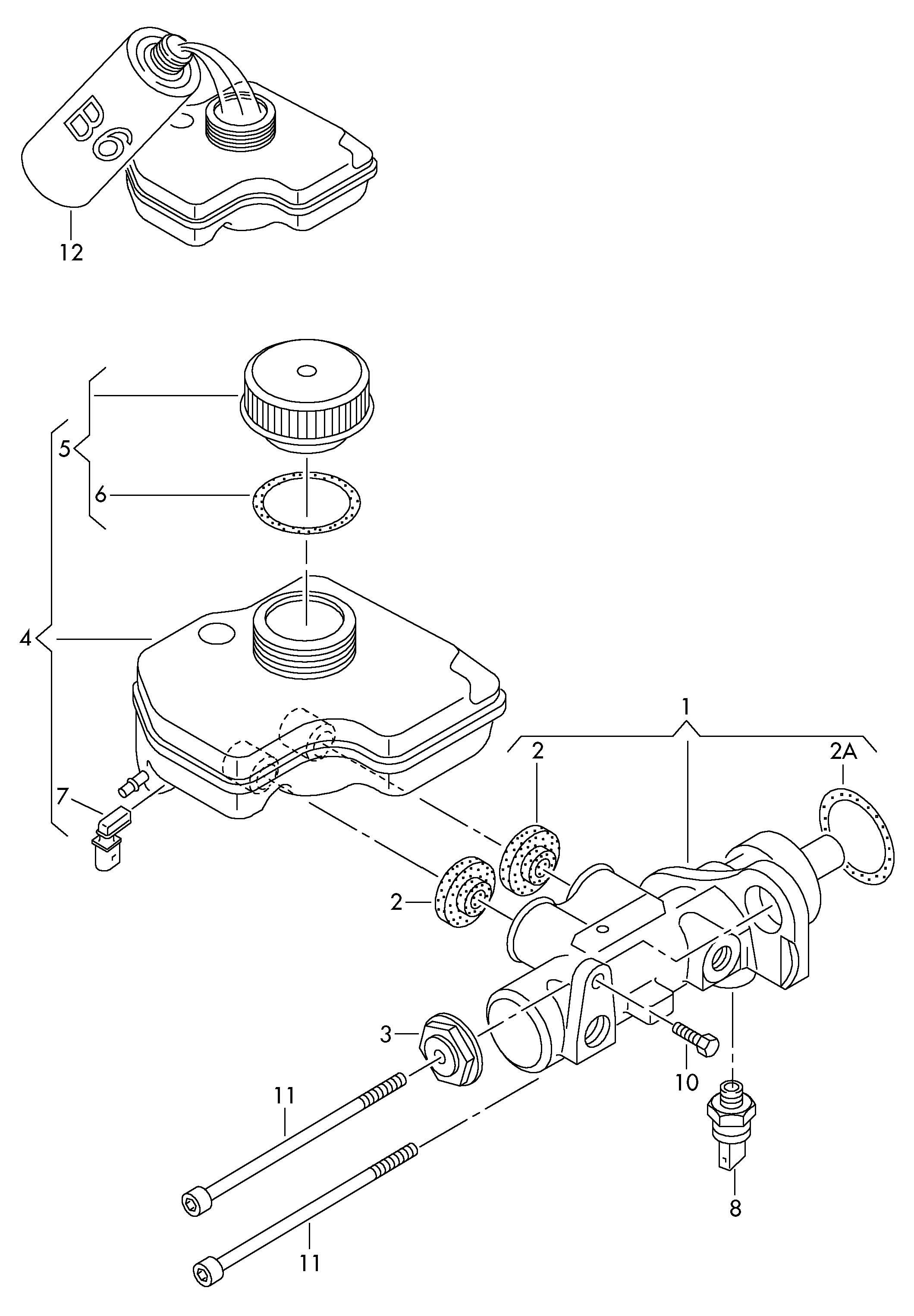 Volkswagen Phaeton Cap For Reservoir Reservoir Cap