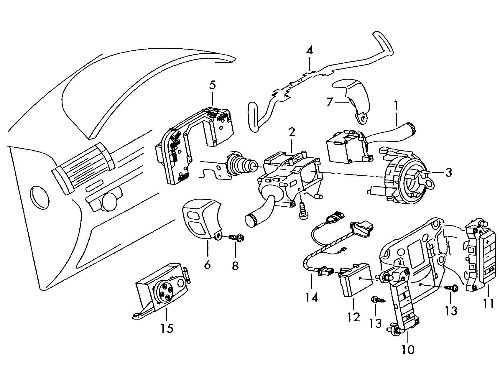 Volkswagen Phaeton Steering column multi-switch