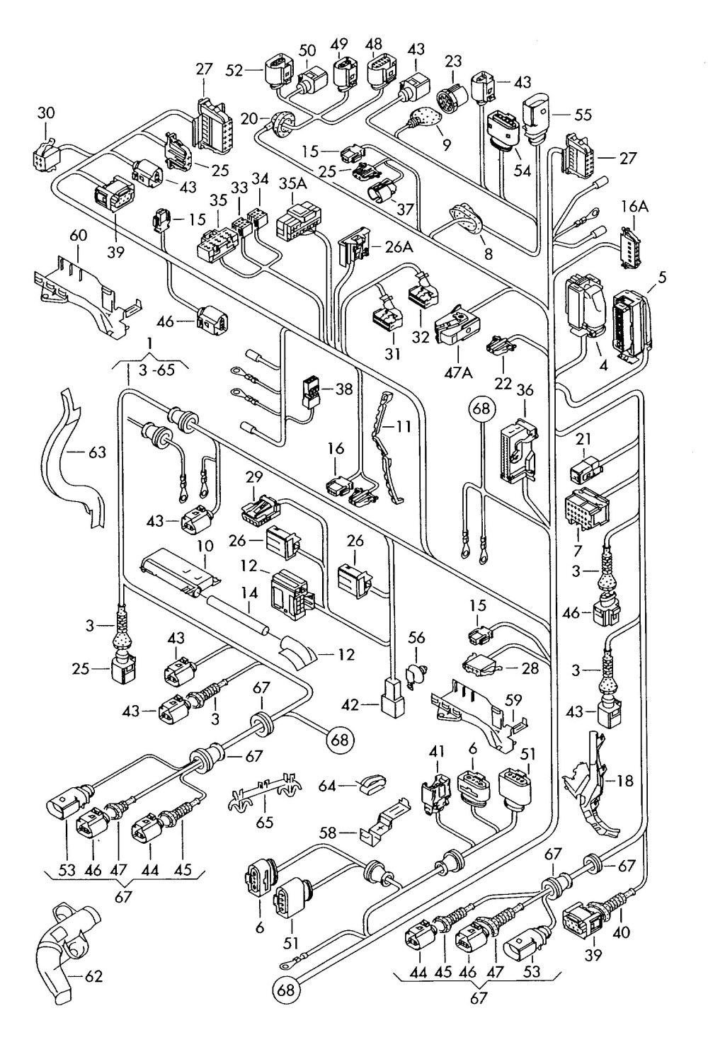 medium resolution of cable wire harness circuit diagram 3 wire bulb holder wiring harness parts wig wag wire harness