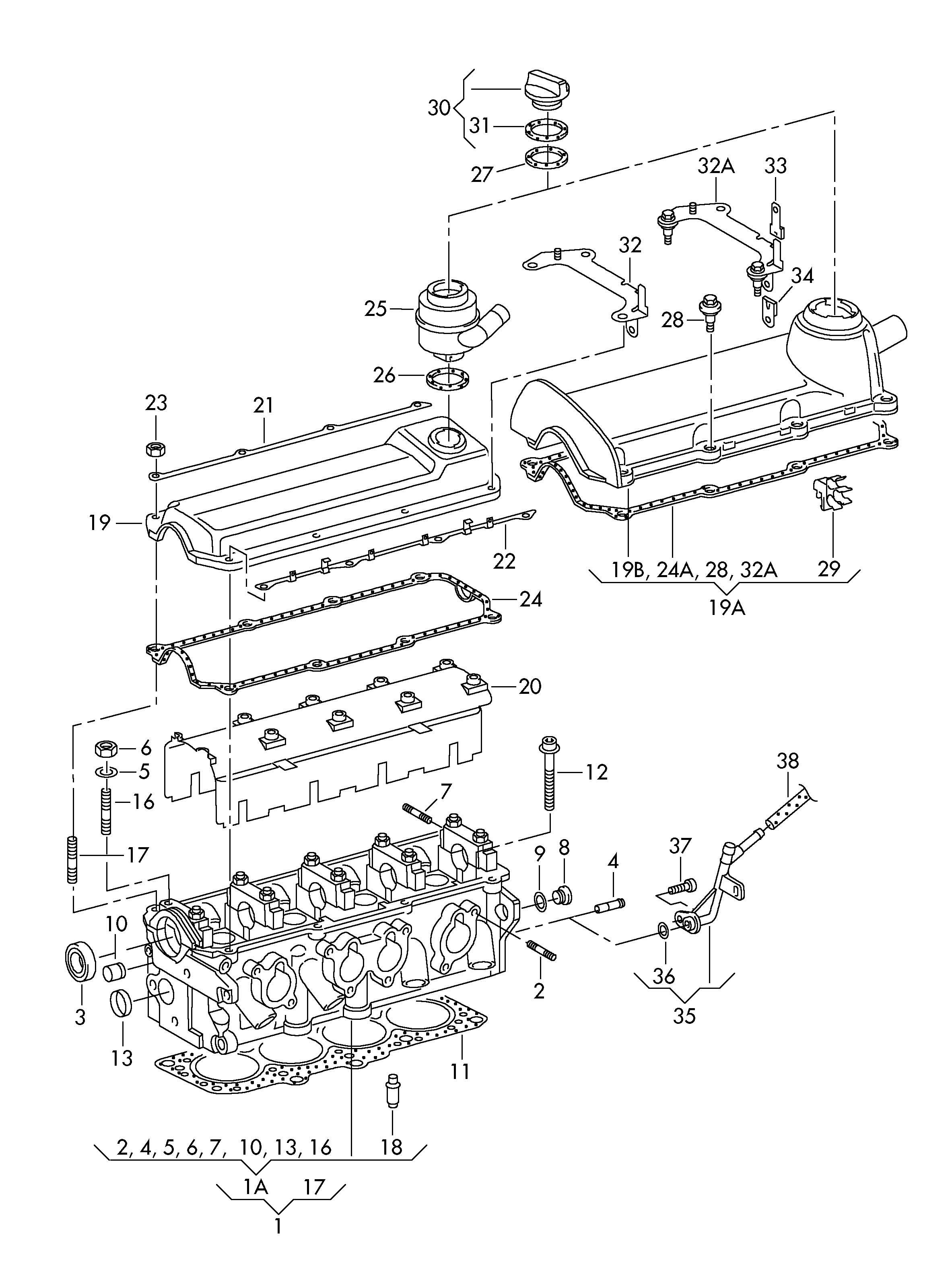 vw car engine diagram