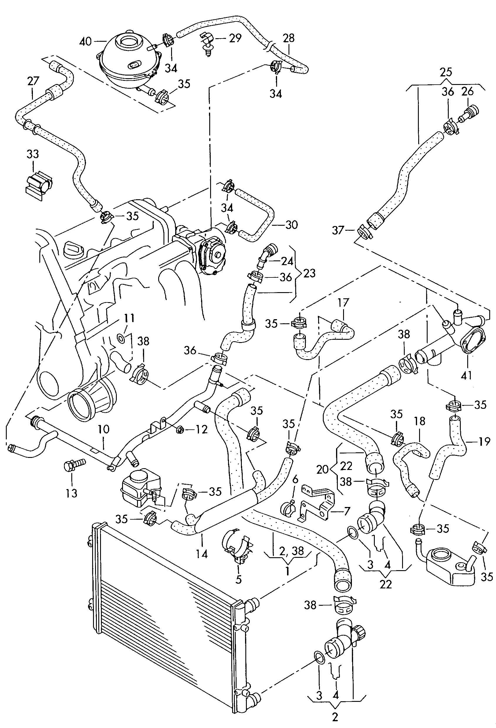 Volkswagen New Beetle Convertible (heat exchanger>coolant