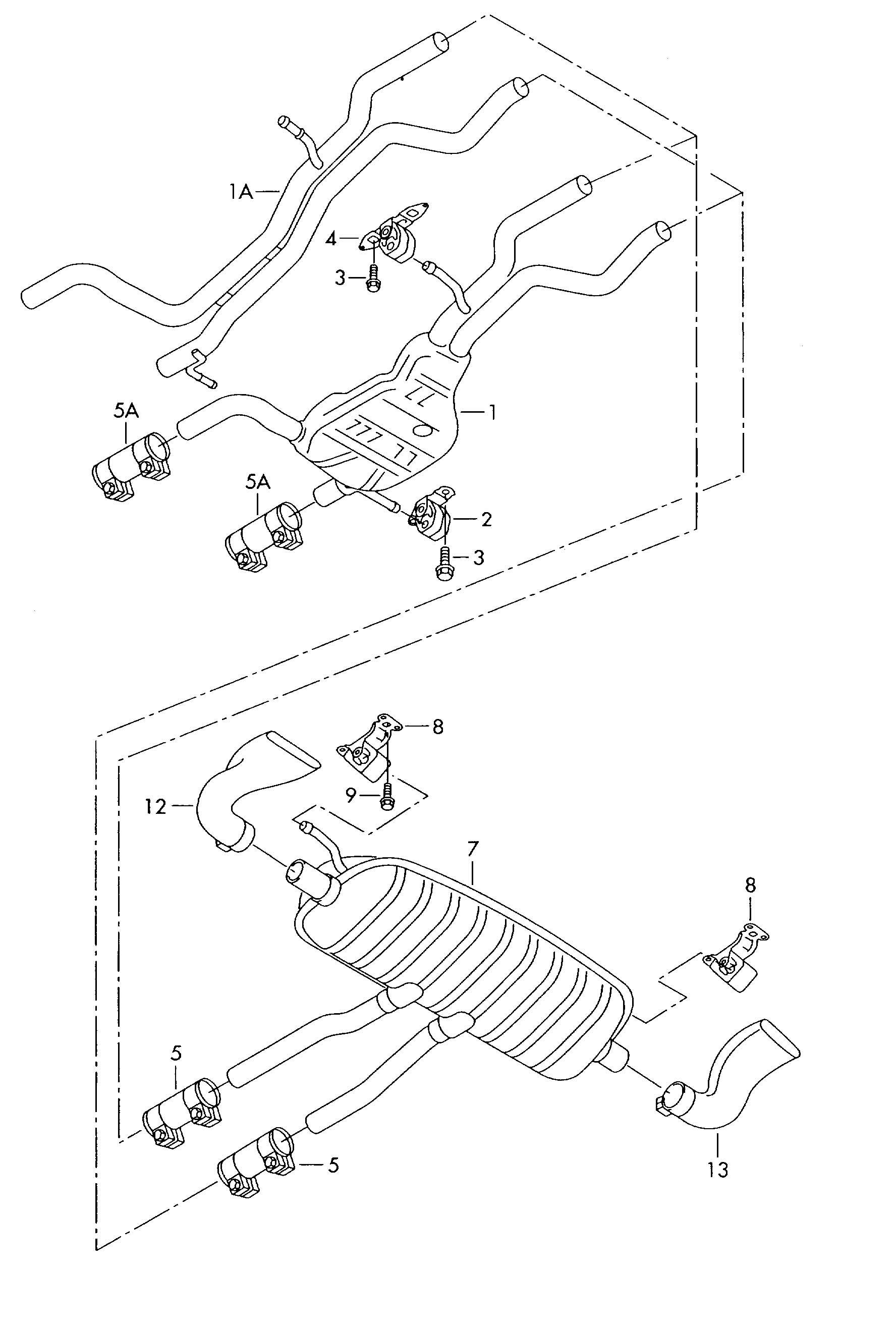 Volkswagen Touareg 3.6L 6 Cylinder Dual clamp. DUAL CLIP