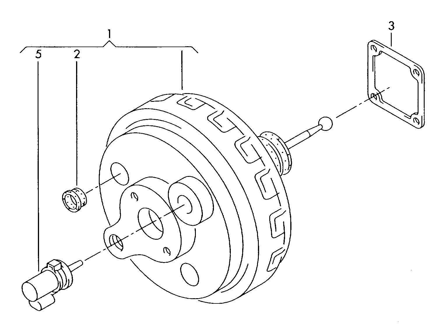 Volkswagen Touareg Brake Servo With Dual Diaphragm