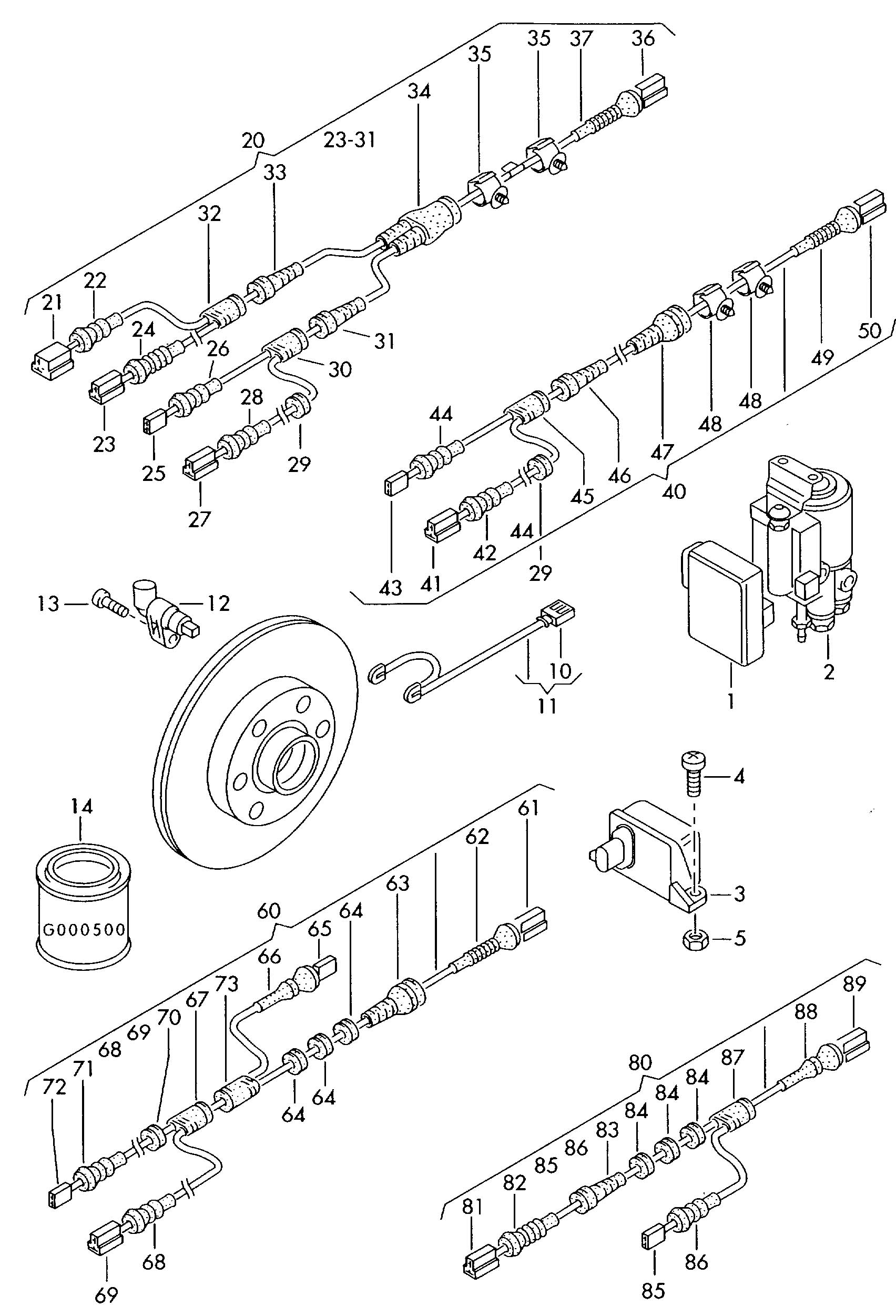 Volkswagen Touareg 3 6l 6 Cylinder Harness For Anti