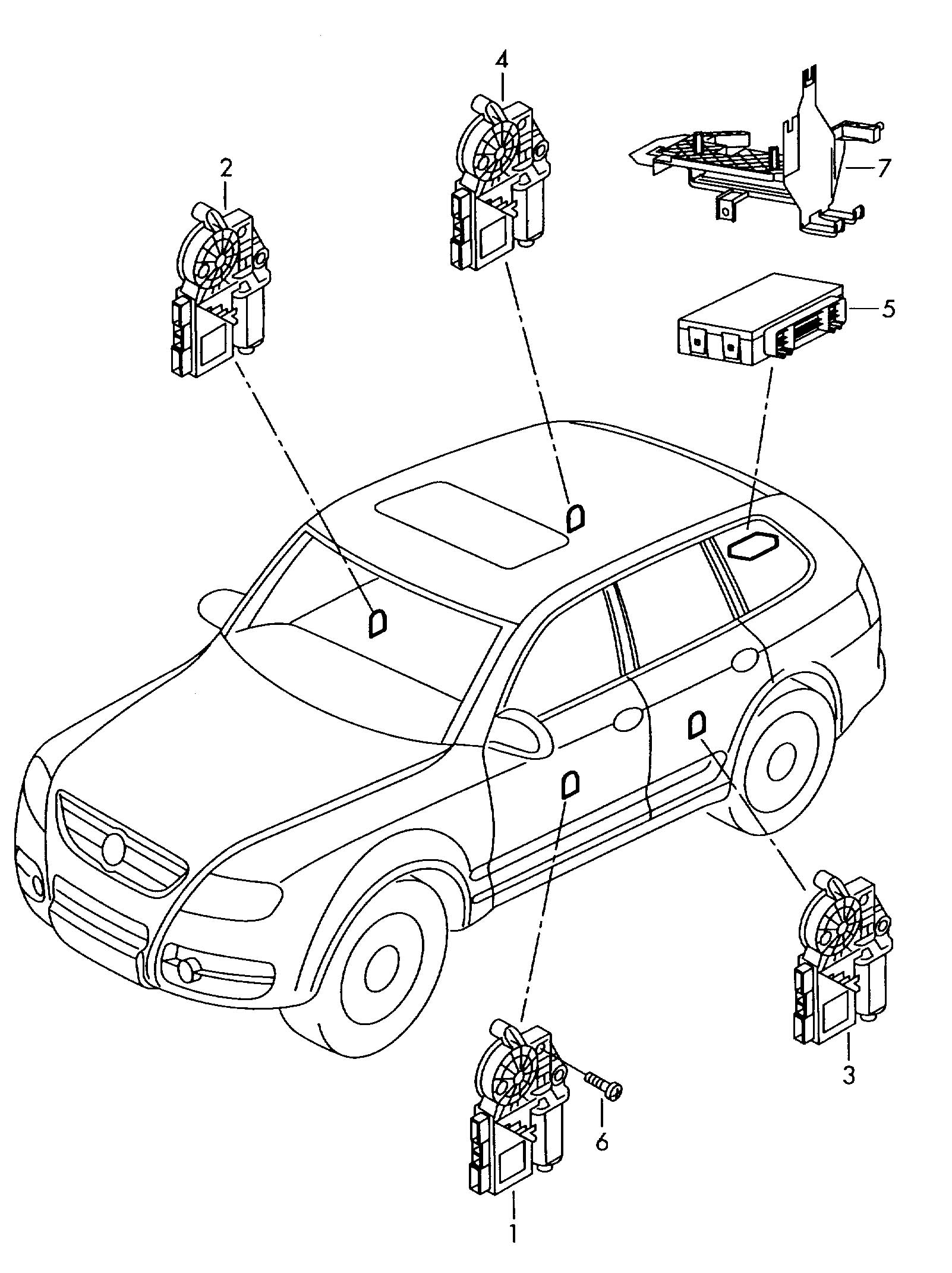 Volkswagen Touareg Central Electronic Control Unit