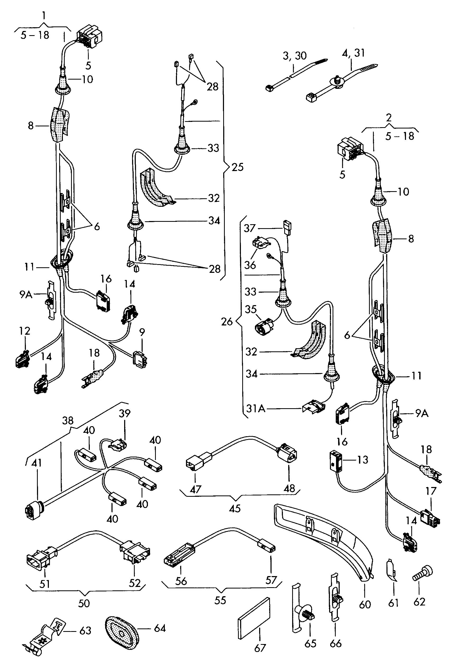 Volkswagen Touareg Single parts which do not adapter