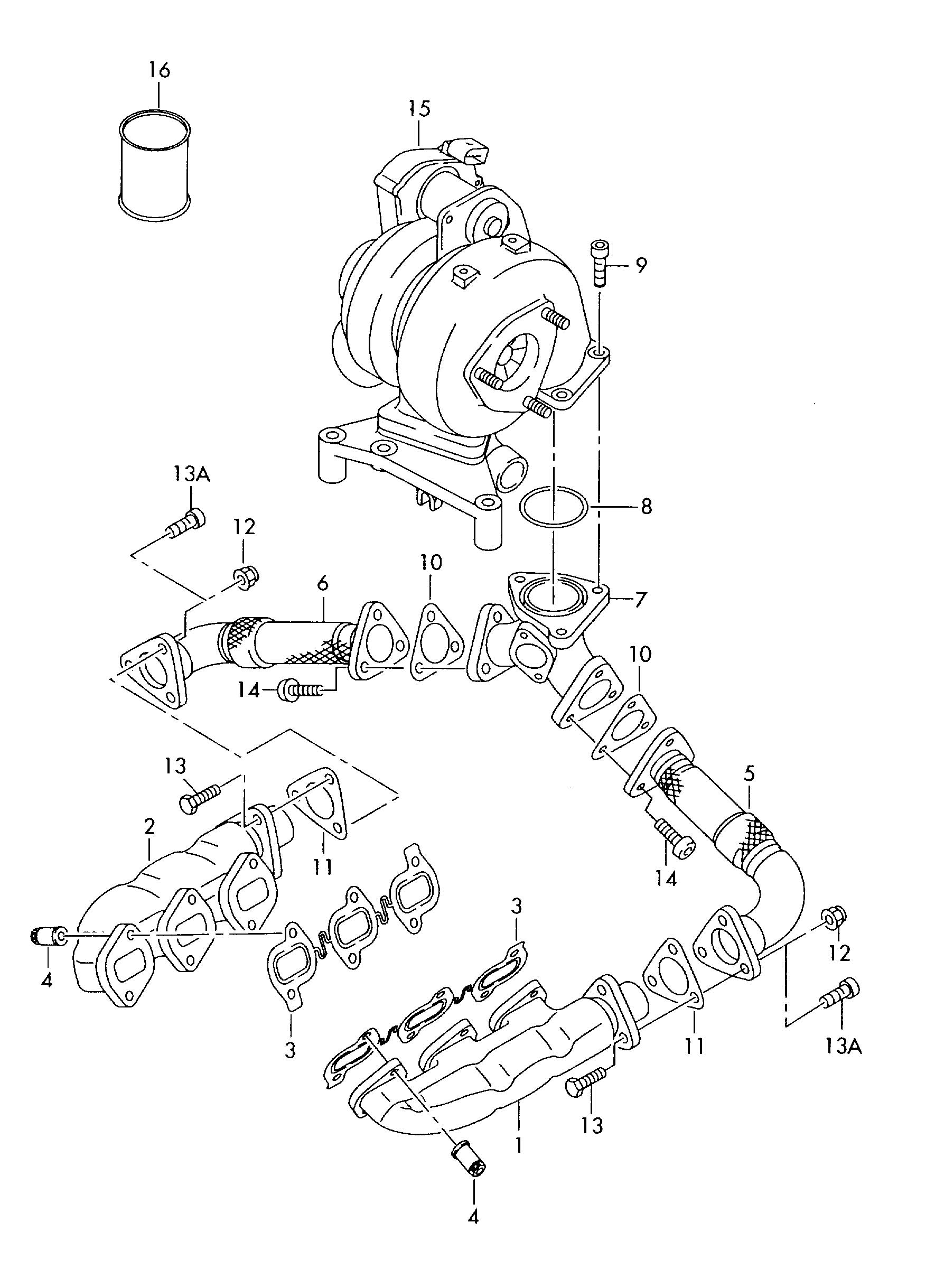 Volkswagen Touareg Exhaust Manifold Exhaust Manifold