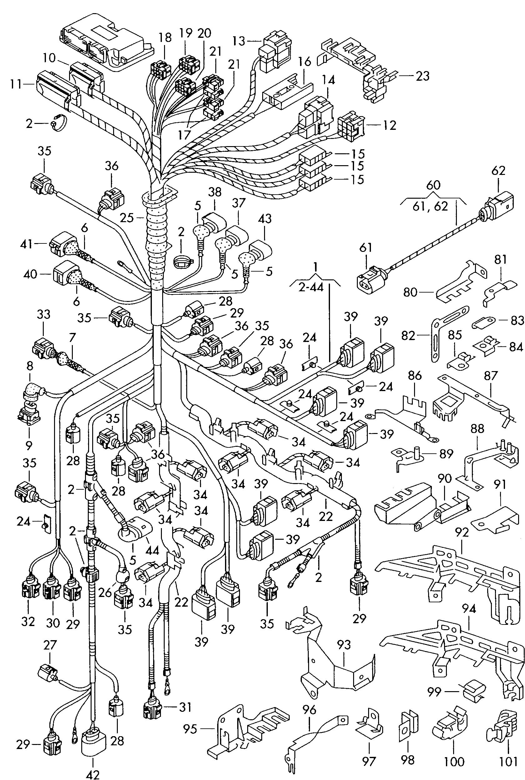 Single parts which do not adapter wiring harness harness