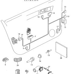 2002 Vw Passat Exhaust System Diagram External Photocell Switch Wiring Volkswagen Conduit Harness For Door 3b4971342