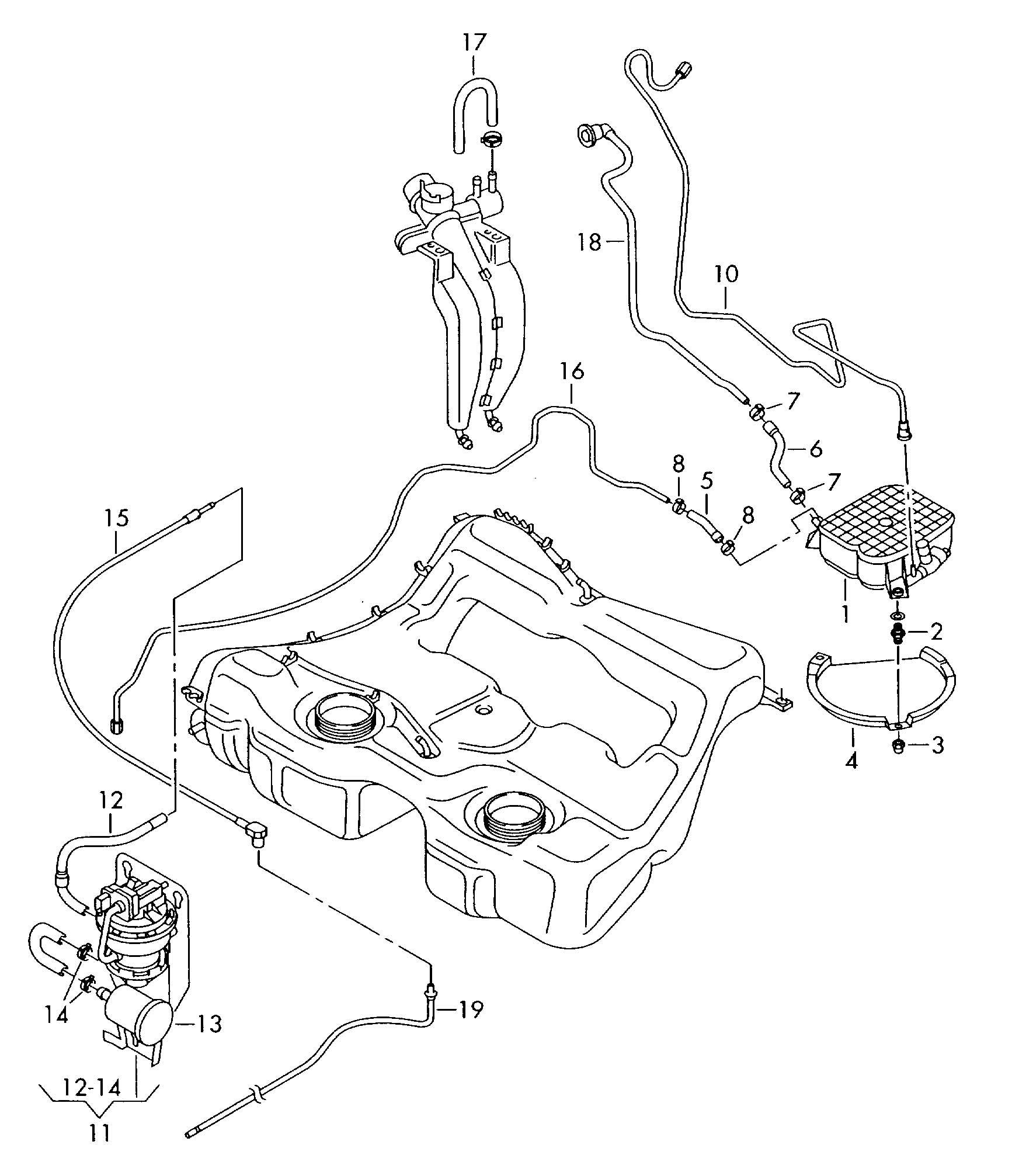 Volkswagen R32 Evaporative Emission Canister Leak Detection Pump