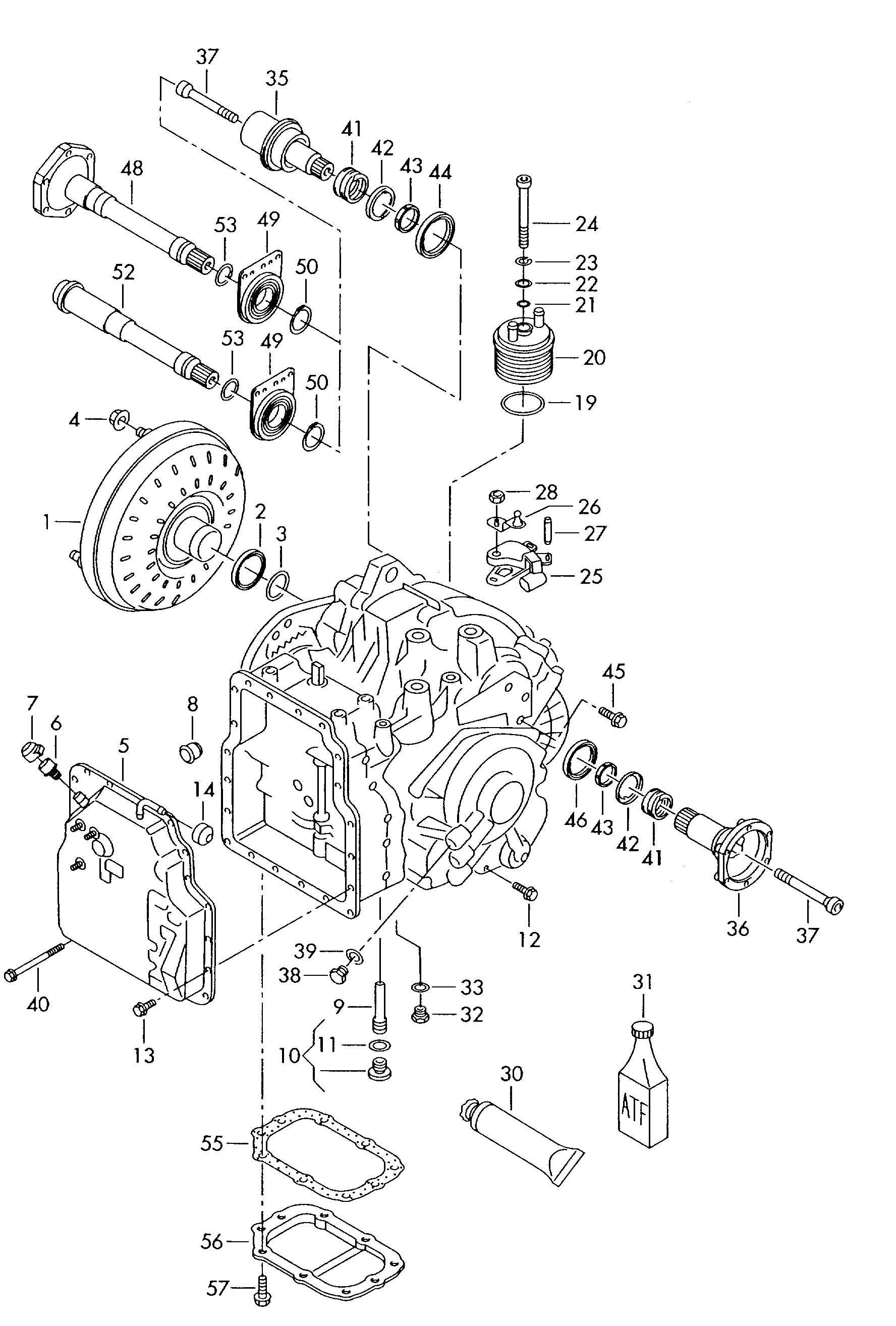 Volkswagen 01m Transmission Parts Diagram