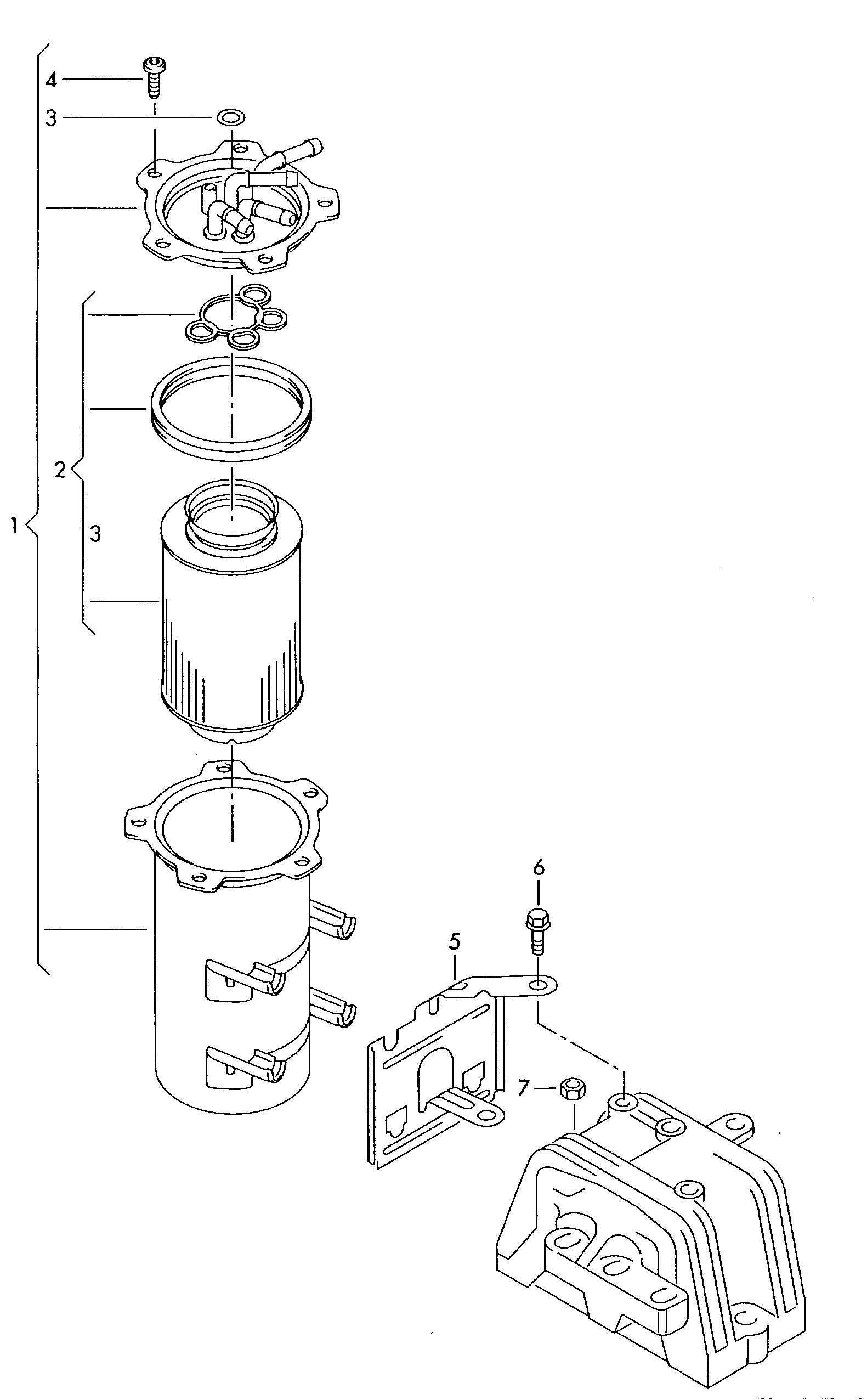 Fuel filter 1.9ltr.