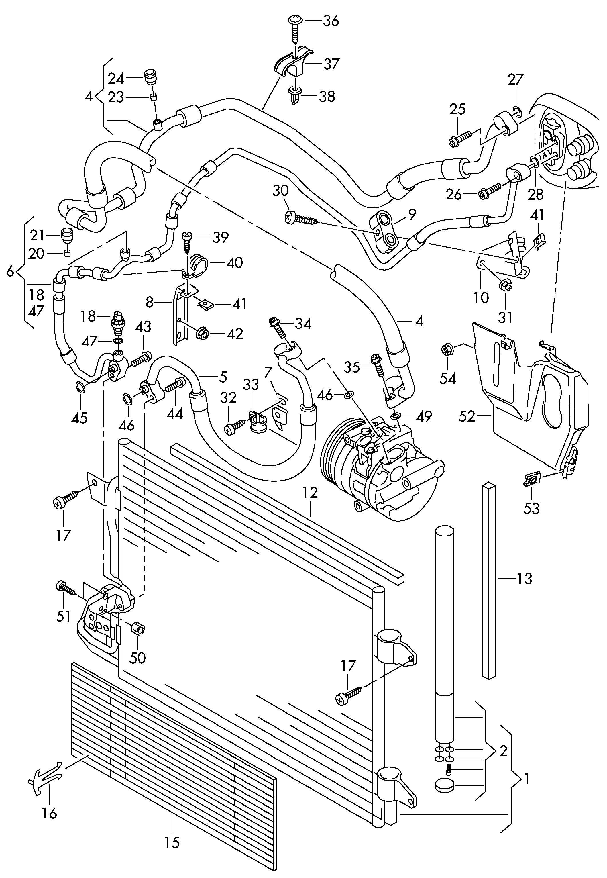 Volkswagen Jetta 2.5L 5 Cylinder Refrigerant line (air