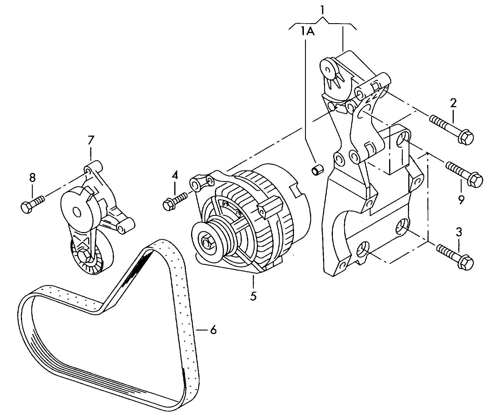 Volkswagen Jetta Bracket for generator and refrigerant