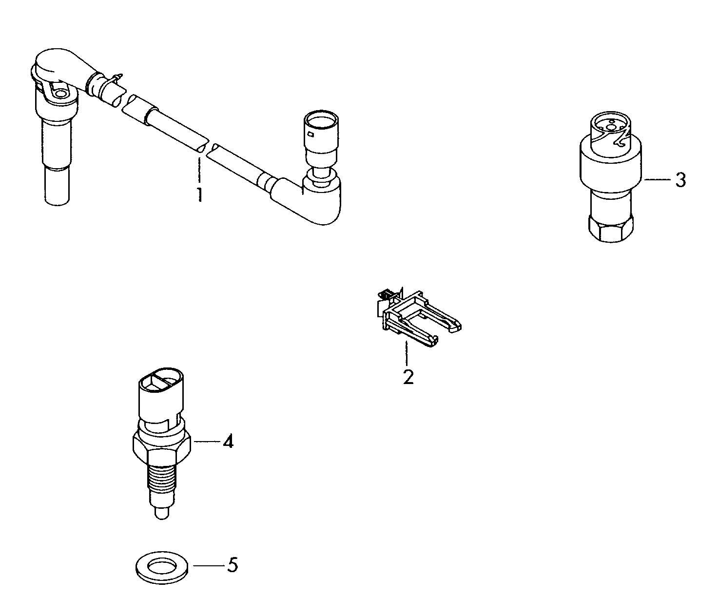 Volkswagen Passat Switch and sender on gearbox 6-speed