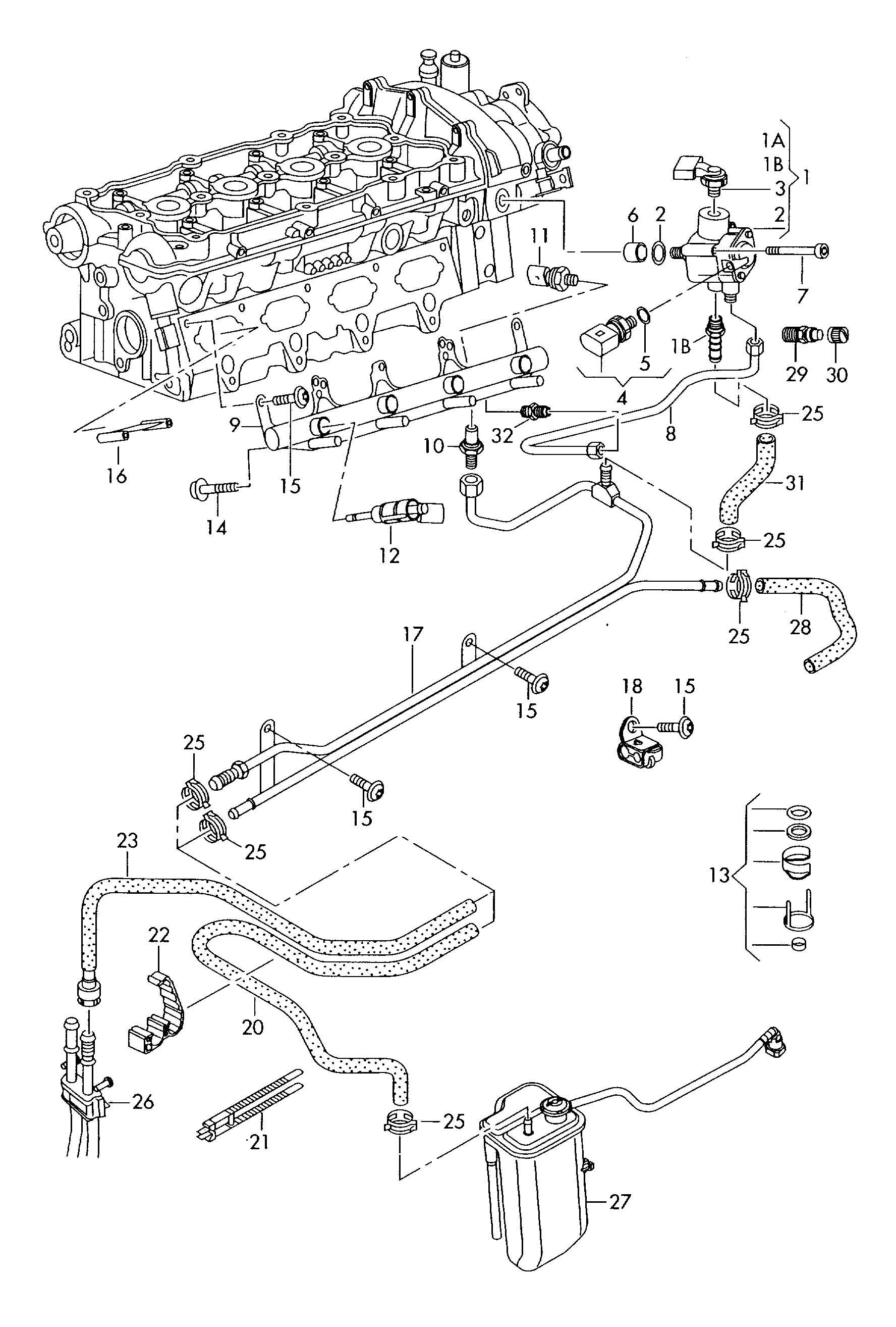 Volkswagen Rabbit Repair Kit For Valve Comprising Unit