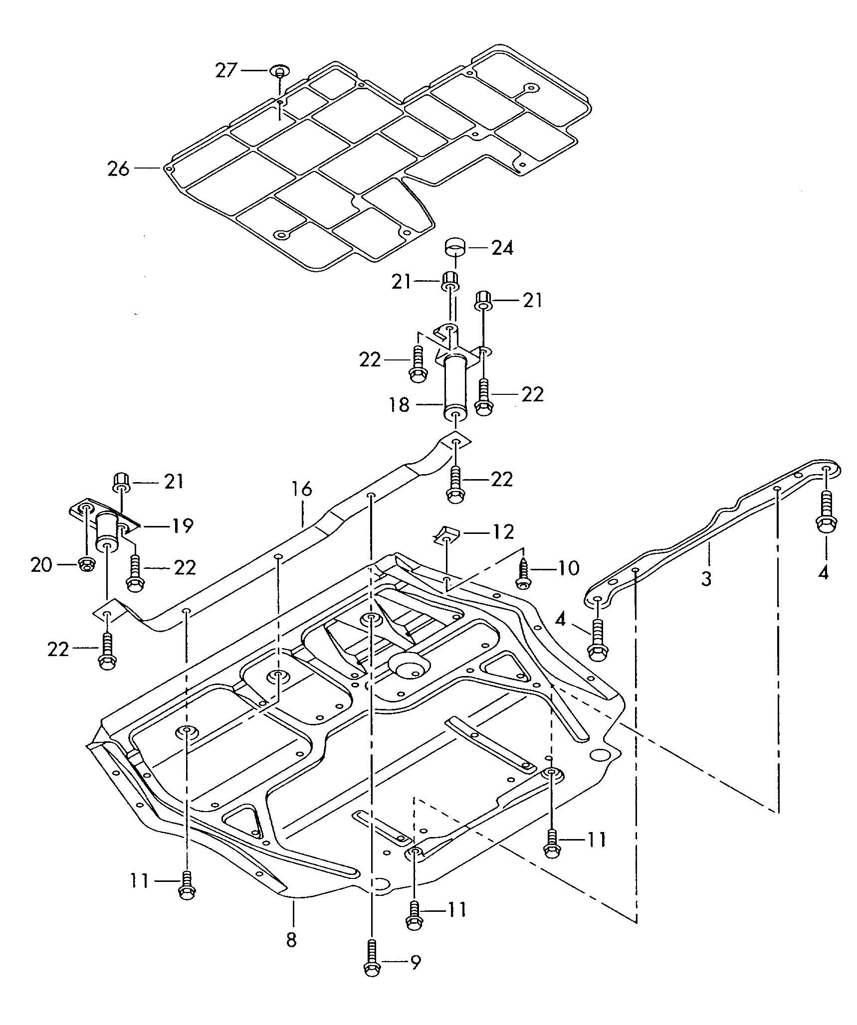 Volkswagen Rabbit Engine protection grille