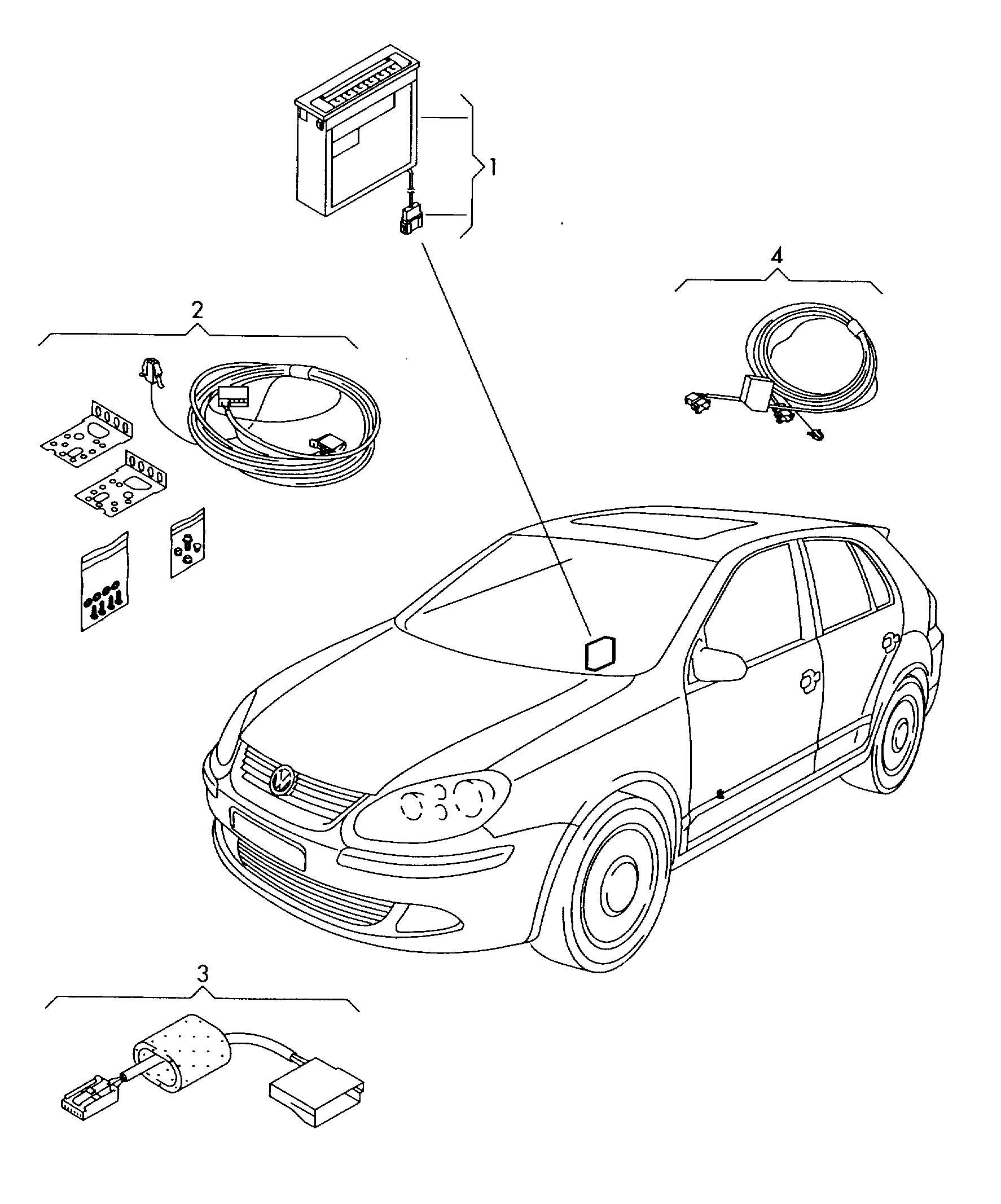 Volkswagen Eos Original Accessories Cd Changer