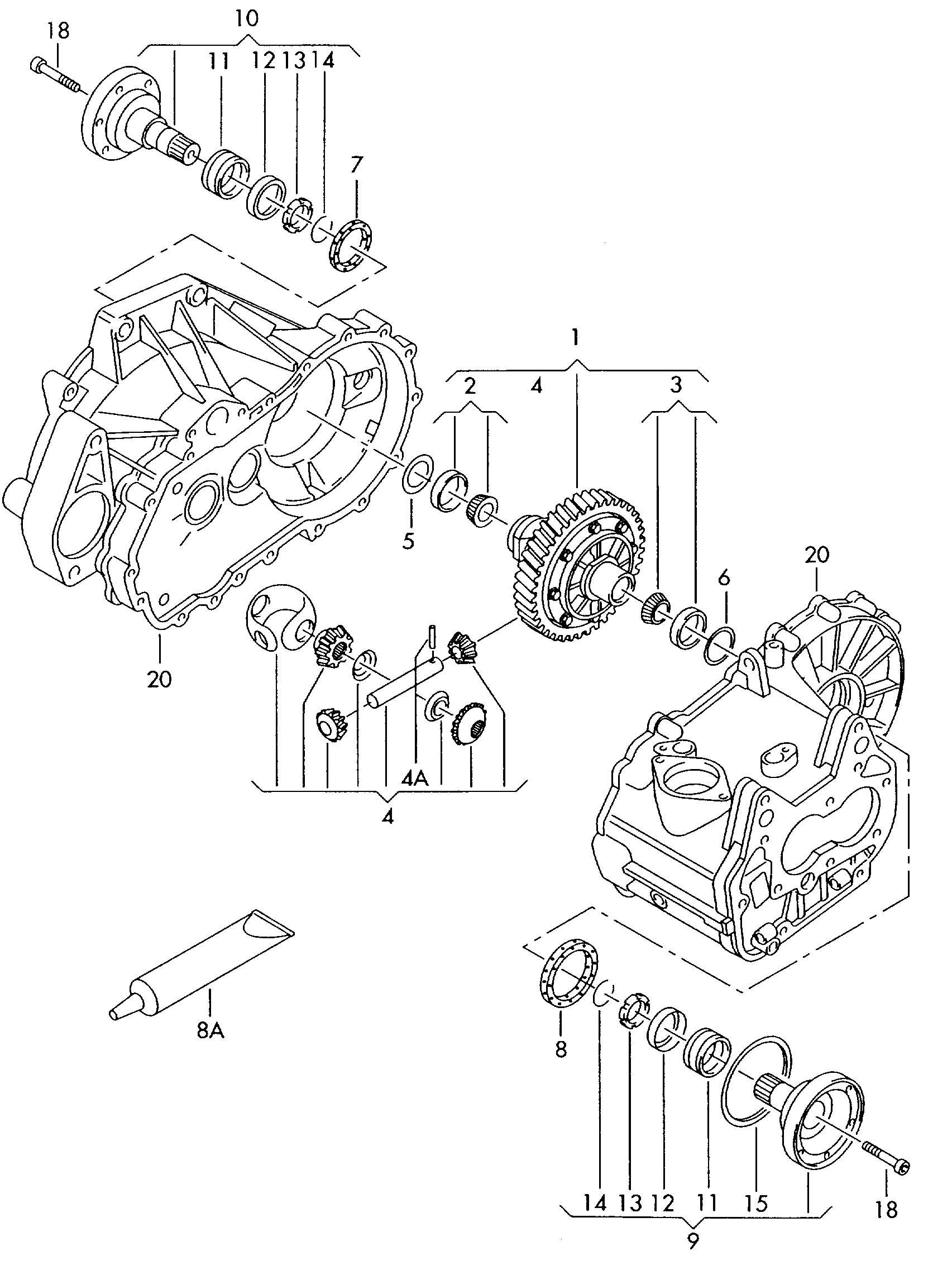 Volkswagen GTI Differential flange shaft for 5 speed