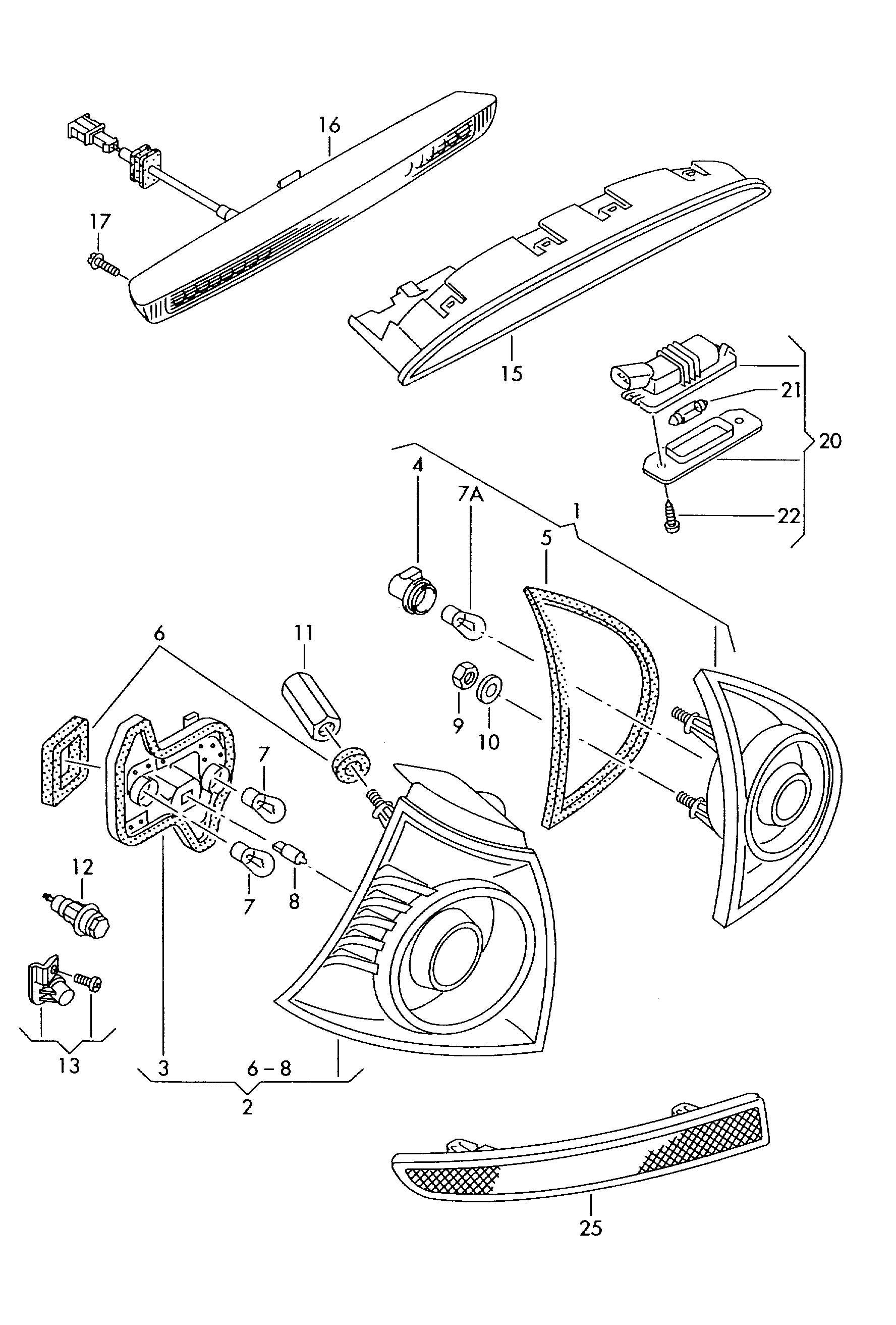 Volkswagen Golf License plate light. LICENCE PLATE LIGHT