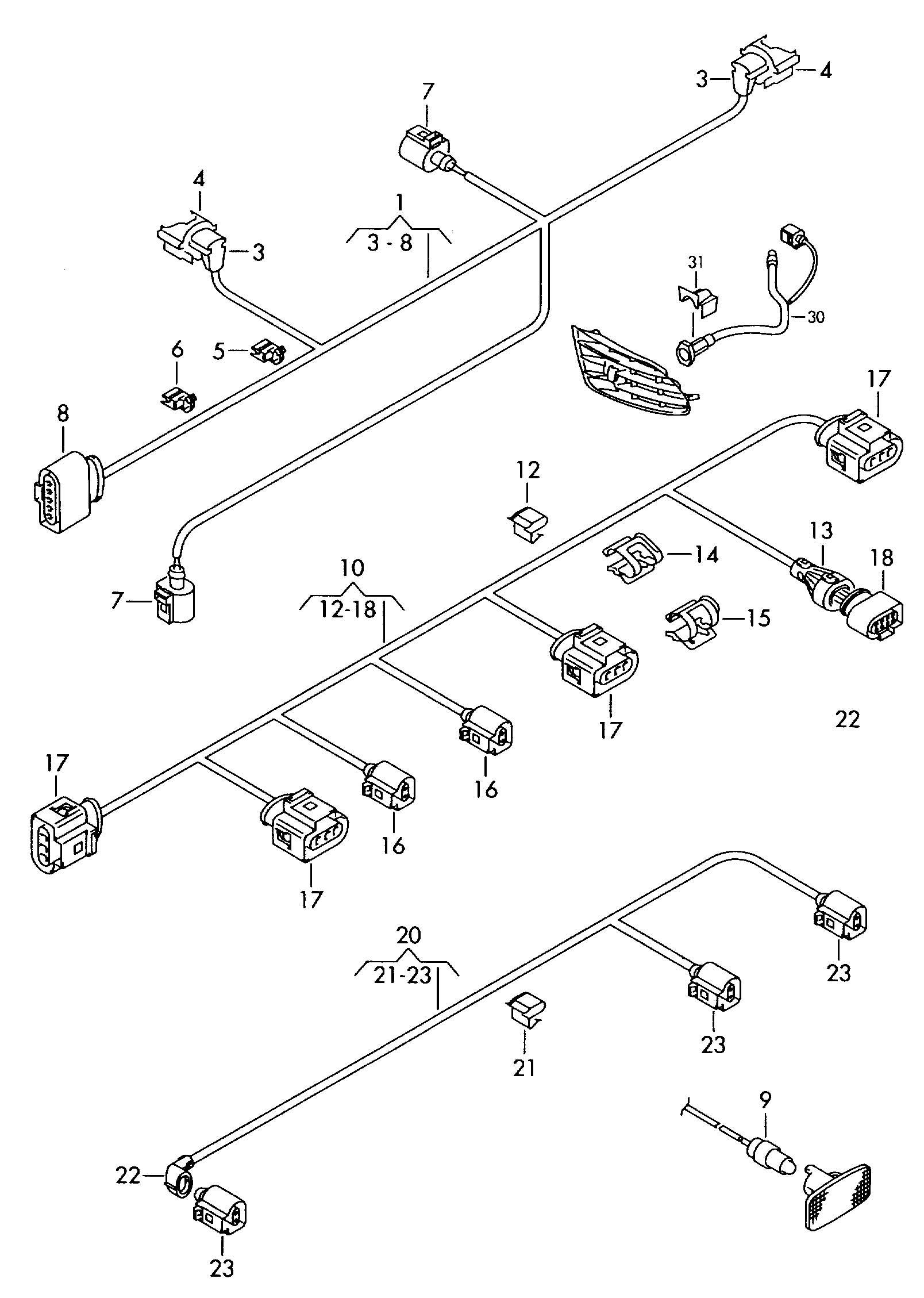 Volkswagen Jetta Cord For Engine Block Heater Block
