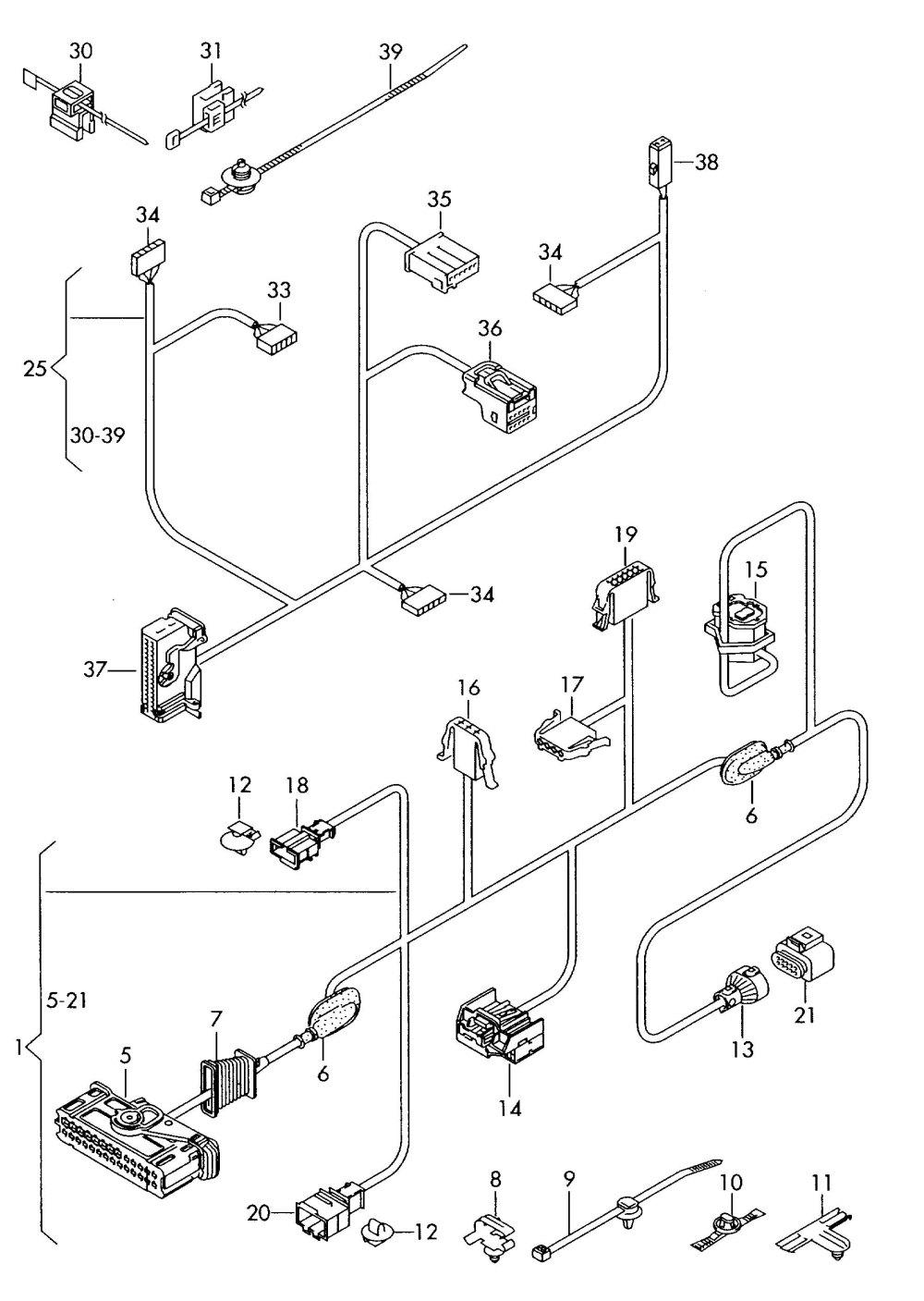medium resolution of vw beetle wiring loom vw jetta door wiring harness 2003 jetta door wiring diagram led drivers