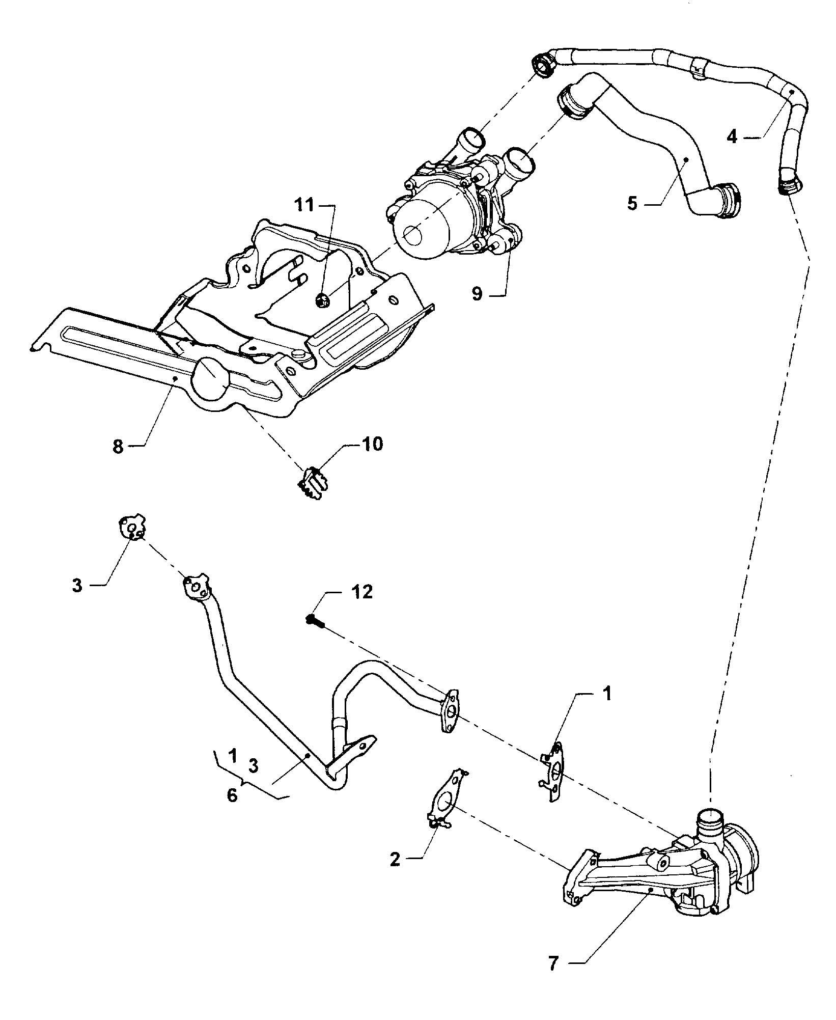 Volkswagen Jetta 2.5L 5 Cylinder Non return flap. WSULEV