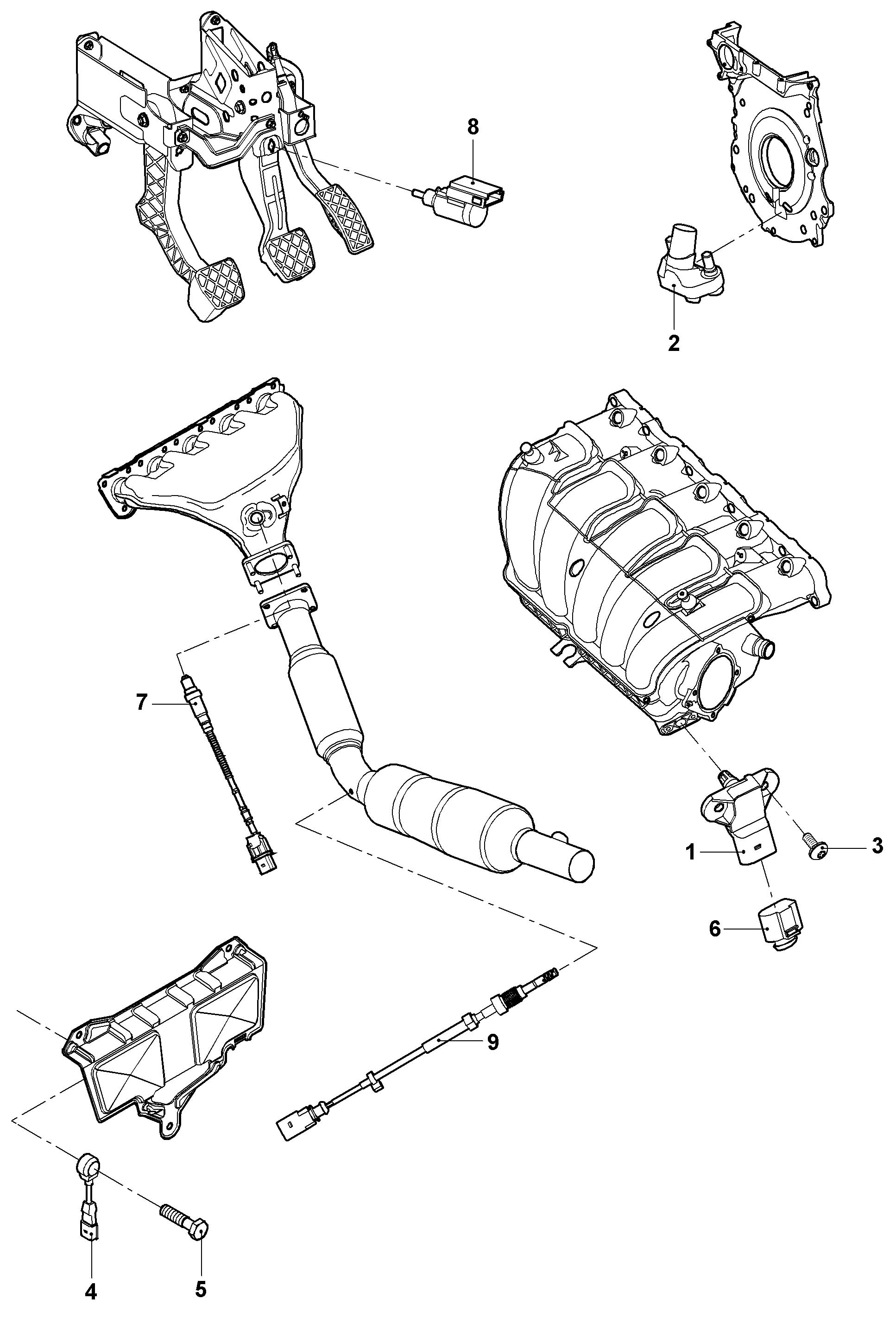 Volkswagen Jetta Variant 2.0L Repair set for lambda probe