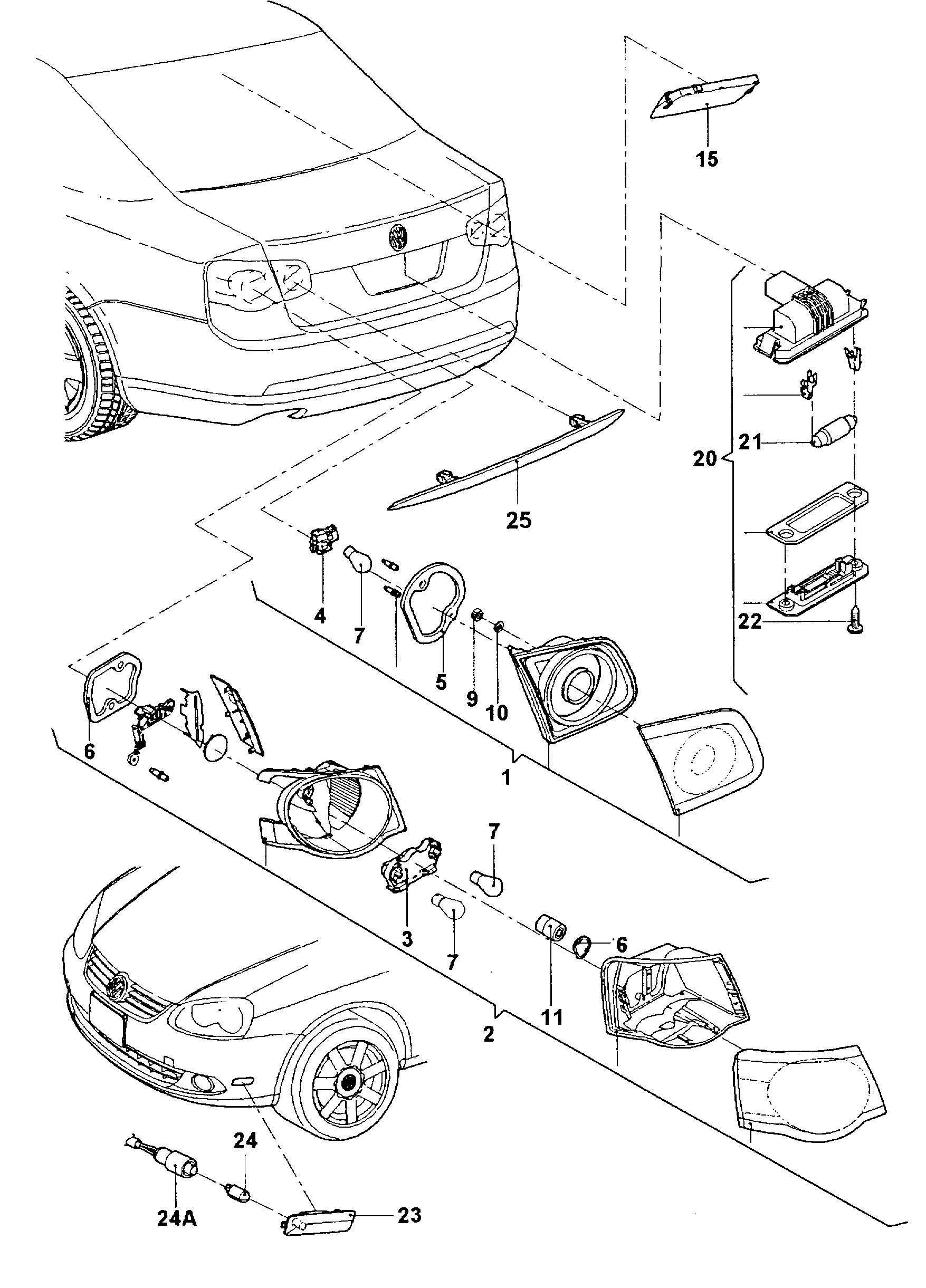 2009 Volkswagen Side marker light wiring harness for side