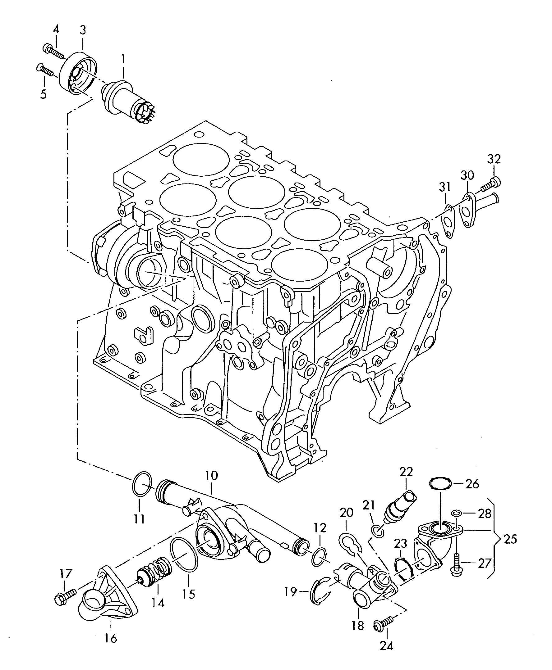 Volkswagen Touareg Adapter Pipe Support Bracket