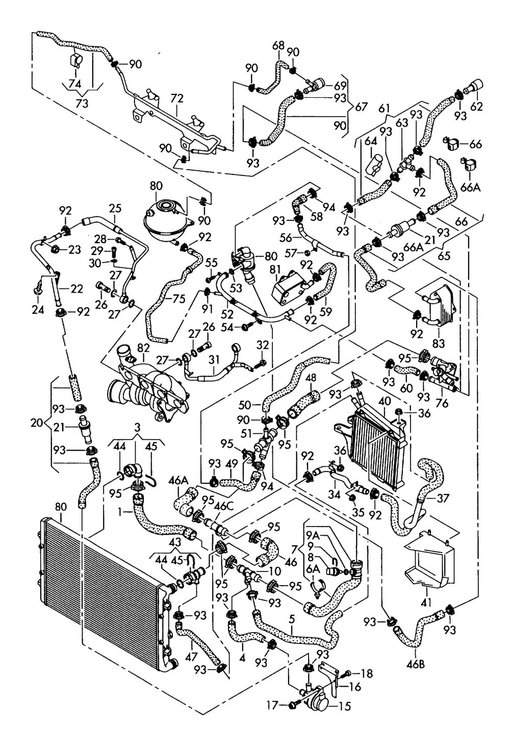 medium resolution of vw 1 8t engine parts diagram wiring diagrams for 2000 vw beetle 1 8 turbo engine diagram
