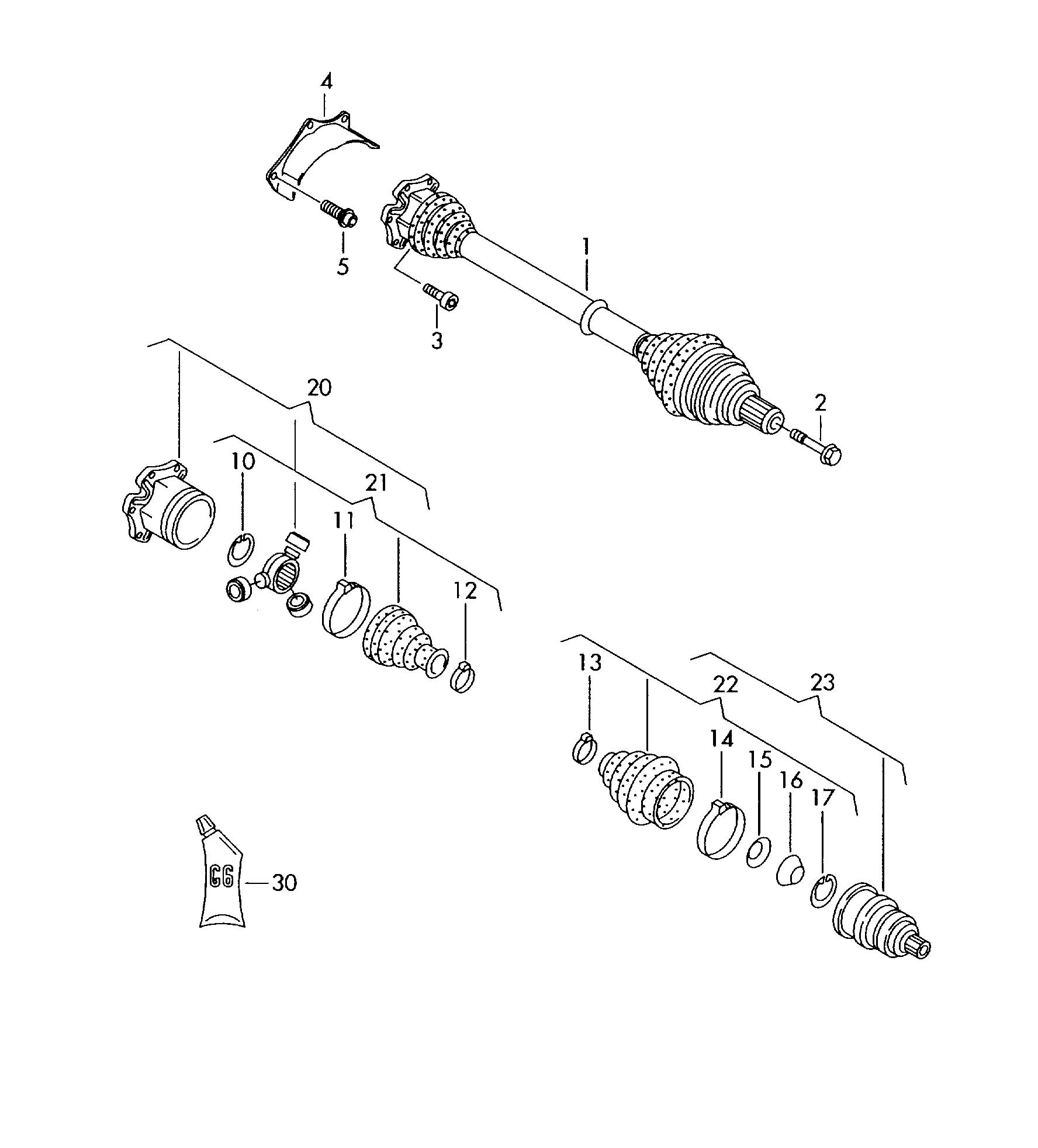 Volkswagen Jetta Grease for constant velocity joint. CVJ