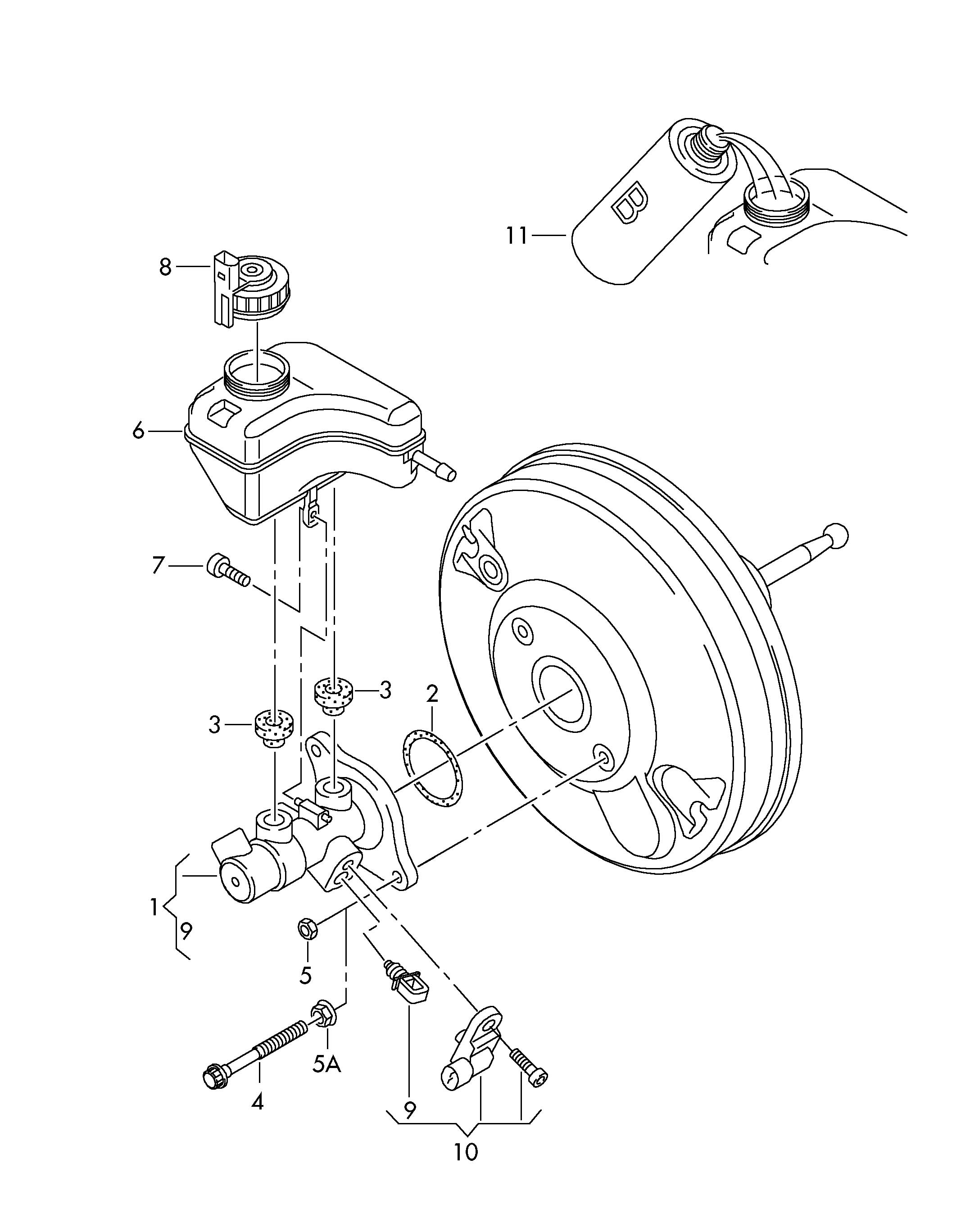Volkswagen Gti Tandem Master Cylinder As Required Use