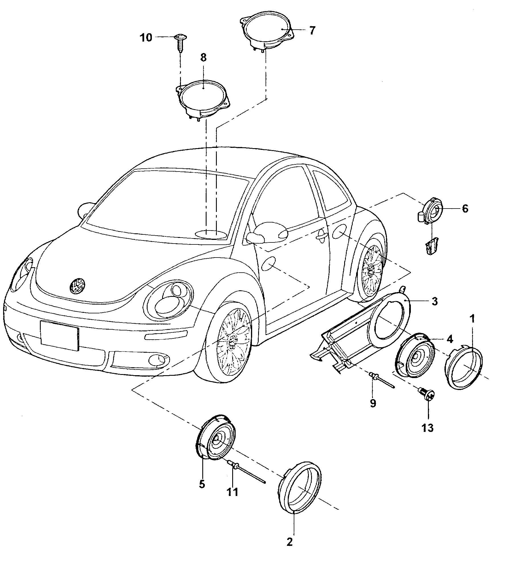 Volkswagen Jetta Loudspeaker Door Trim Panels Door Trim