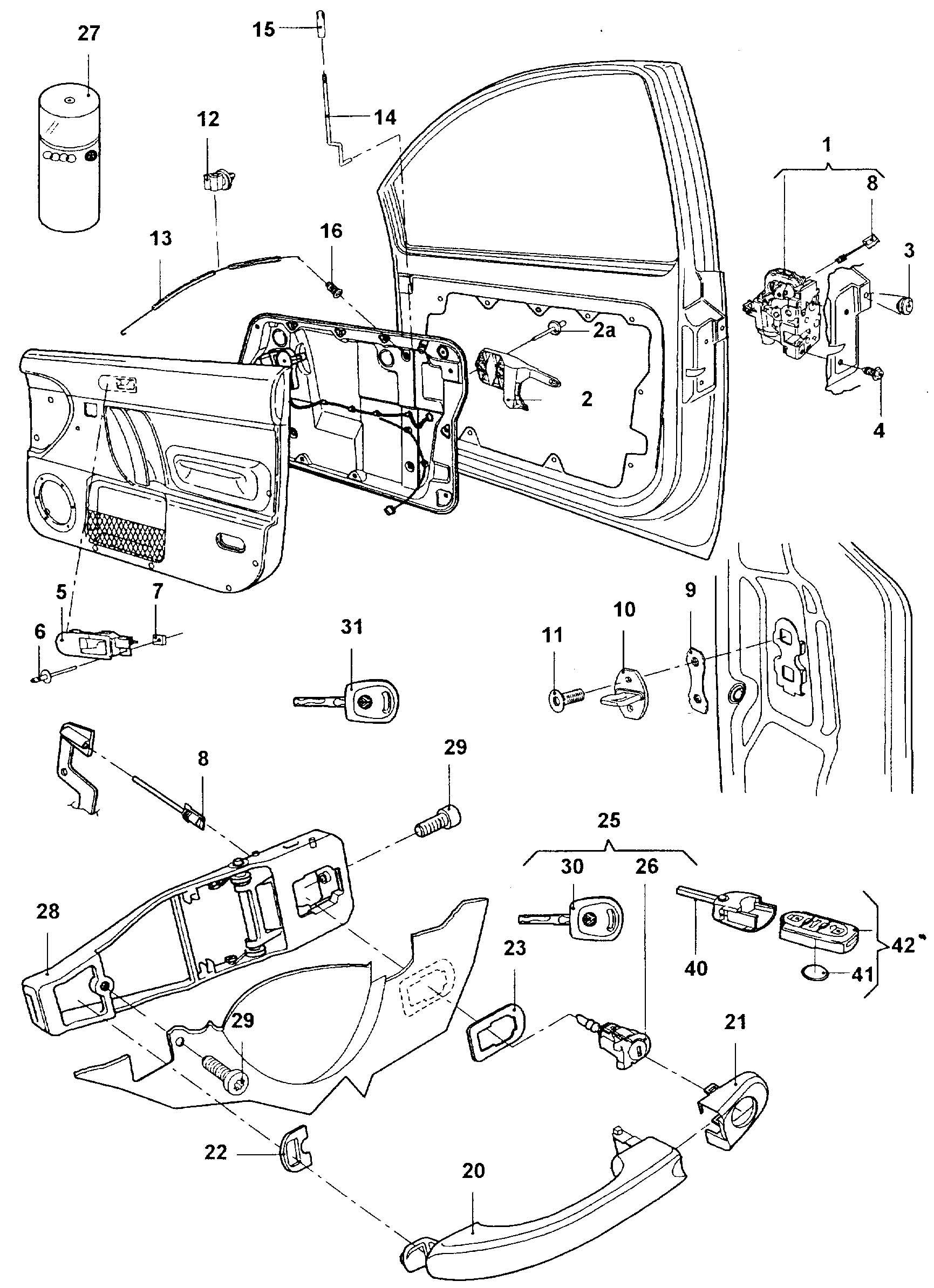 vw new beetle parts diagram 2012 f250 fuse panel 2002 volkswagen door handle outer latch