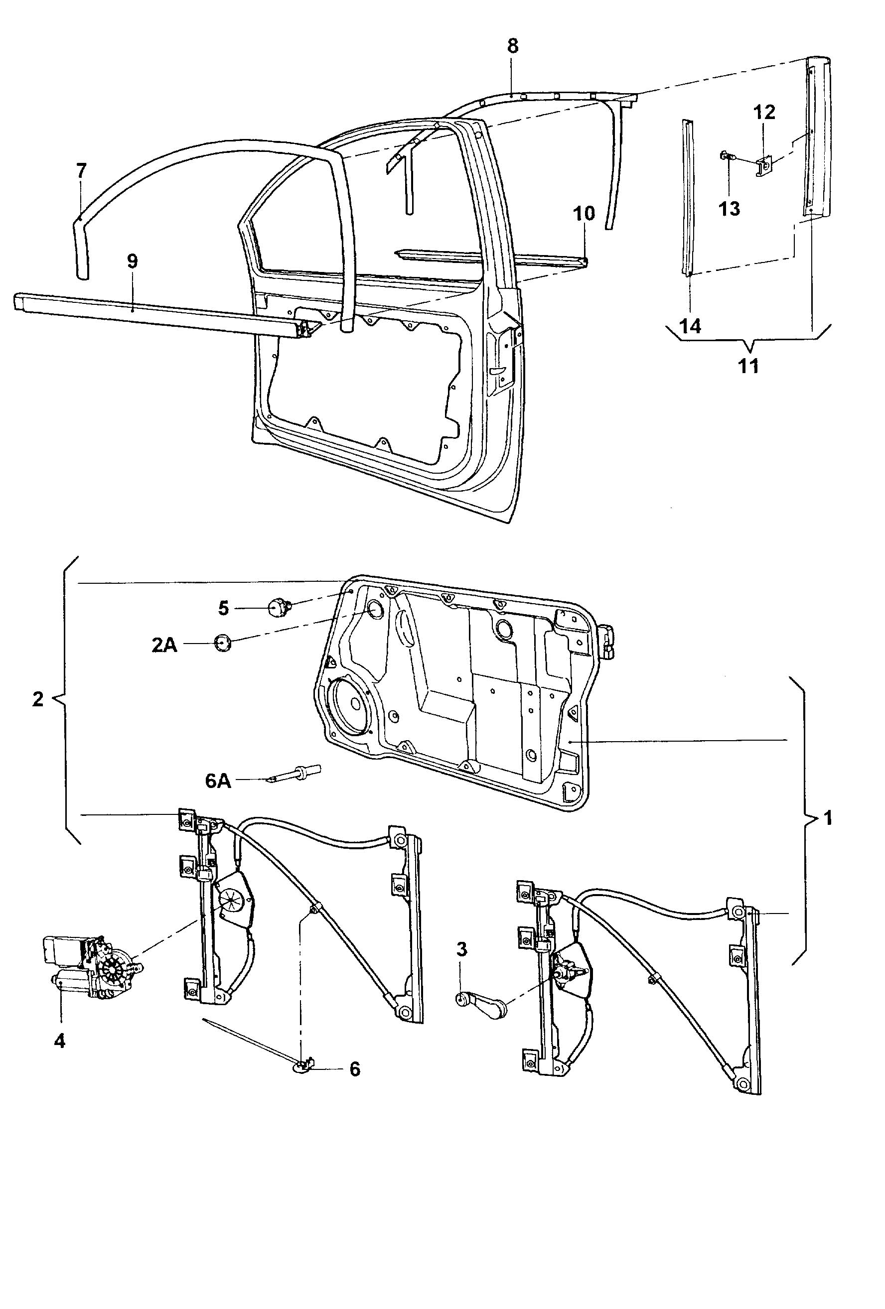 Volkswagen New Beetle Tensioning wire repair kit for