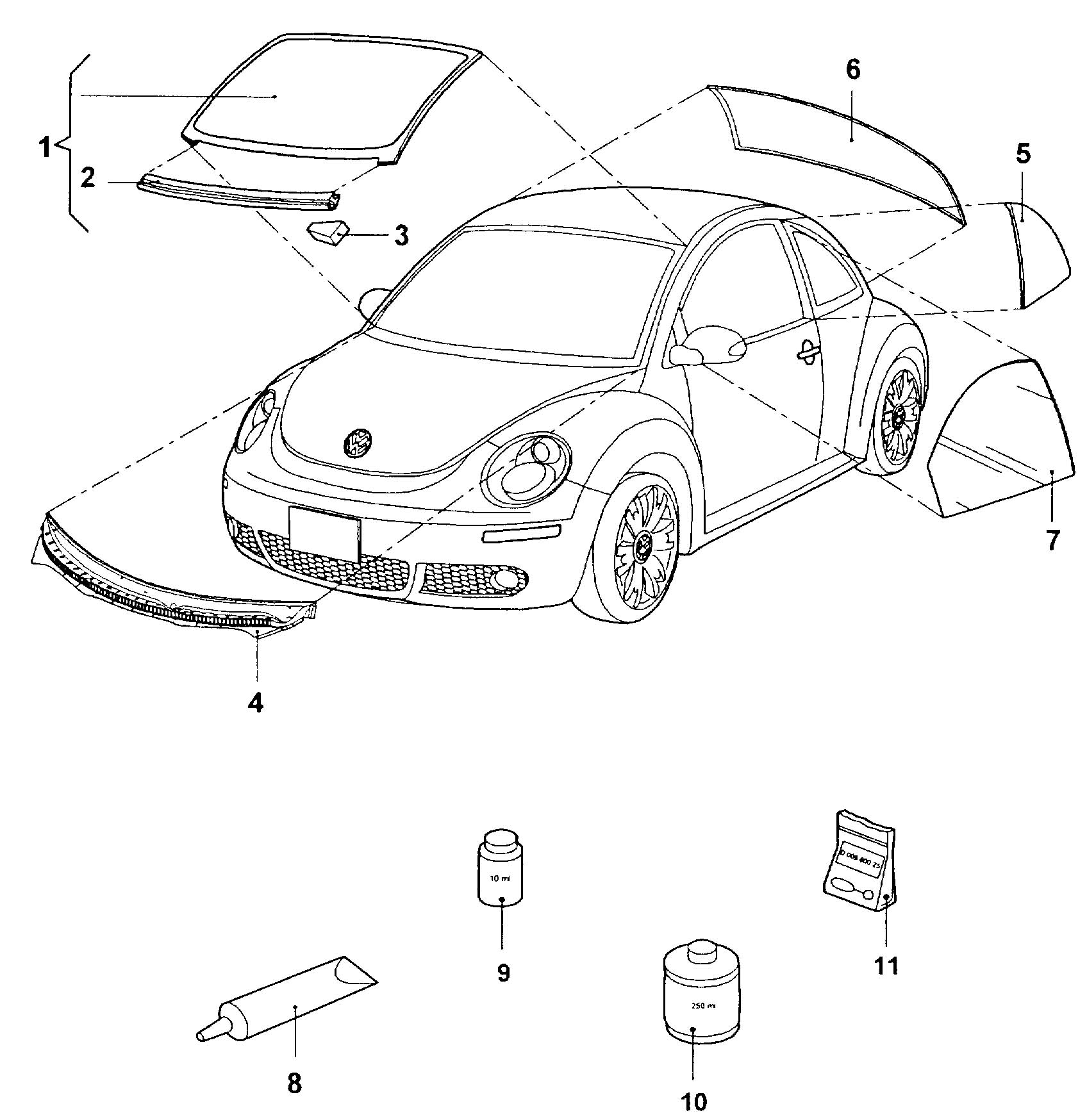 vw new beetle parts diagram three way lighting circuit f body radiator support free engine image for user