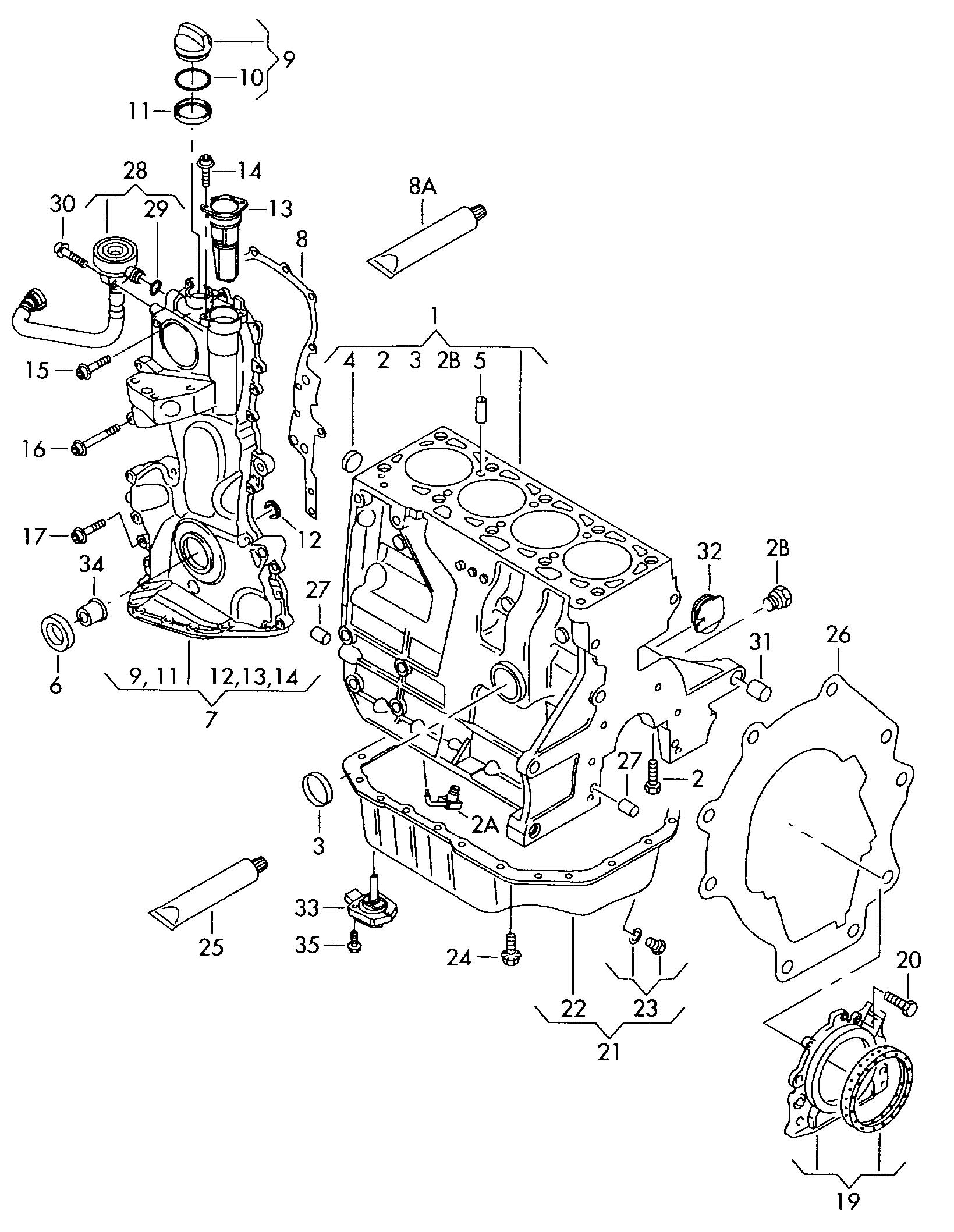 Volkswagen Eos 2.0L Only to be used with: sealing flange