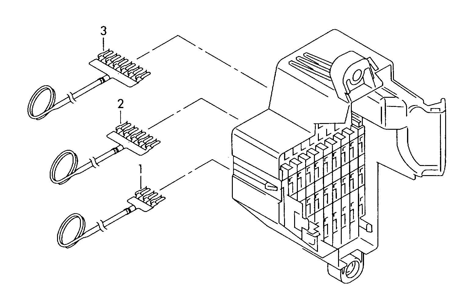 Volkswagen Passat CC Plug bridge flat fuse 19/2x5 cable