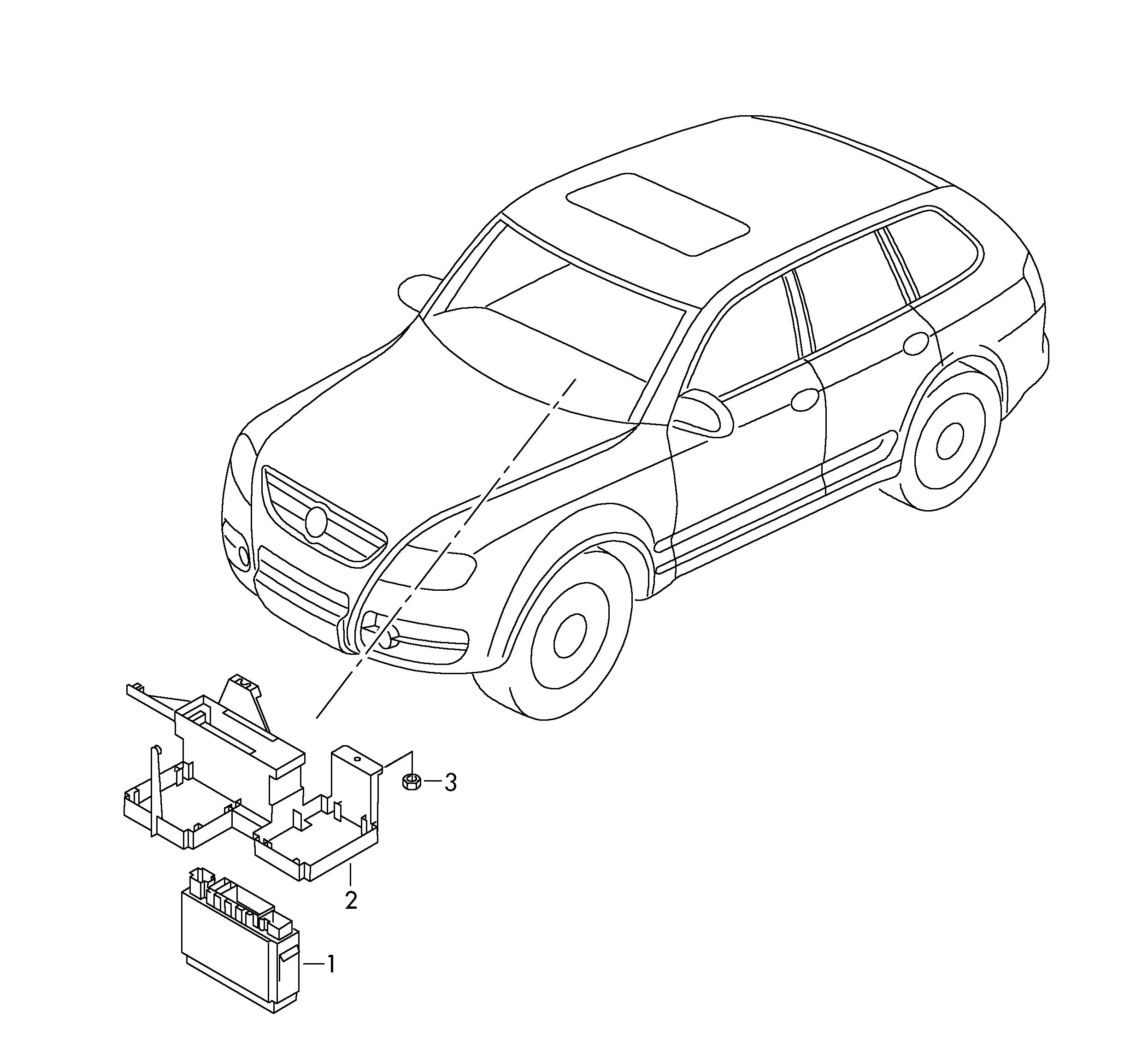 Volkswagen Touareg Onboard supply control unit. CENTRAL