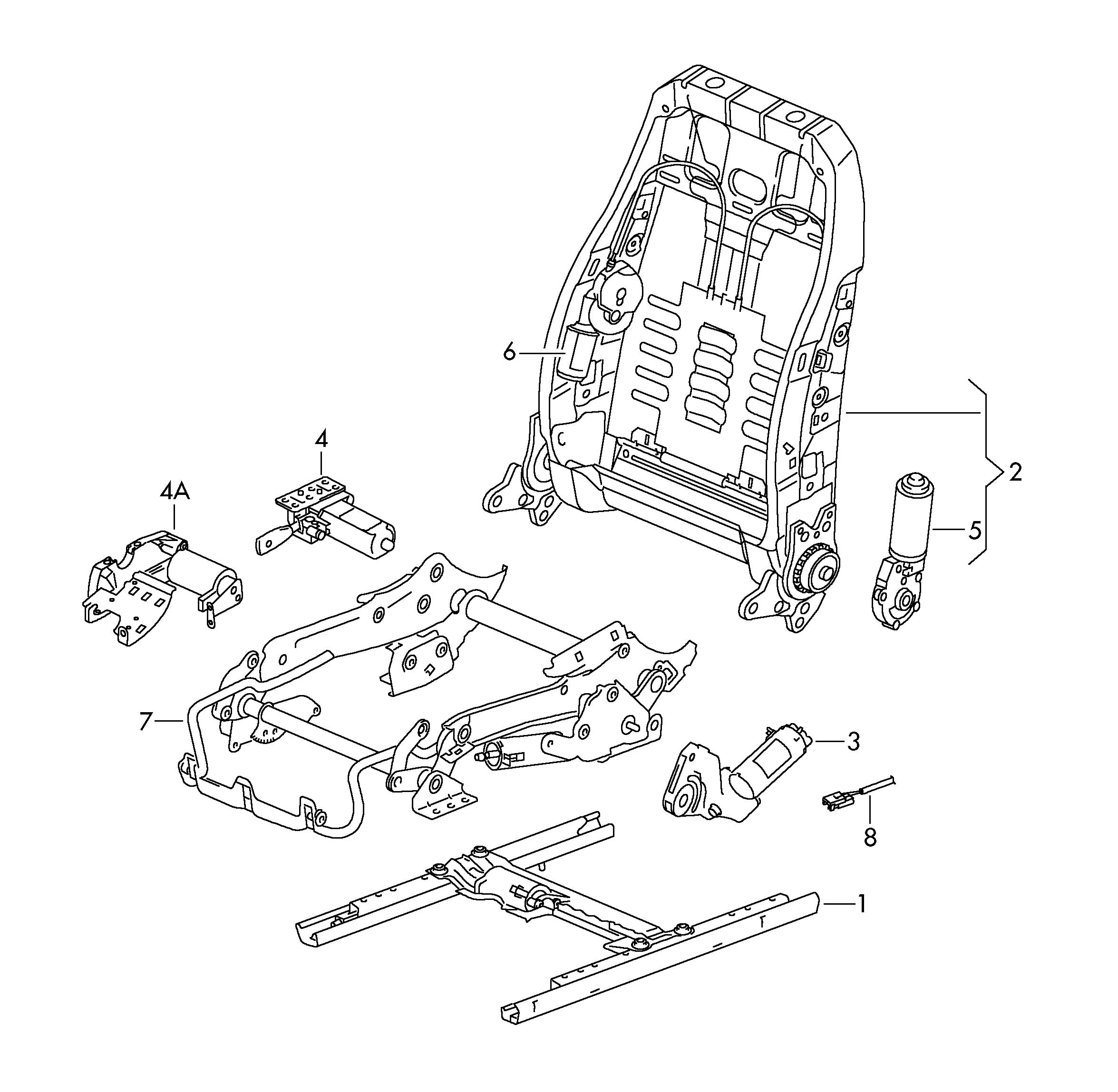 Volkswagen Touareg Electrical Parts For Seat And Backrest