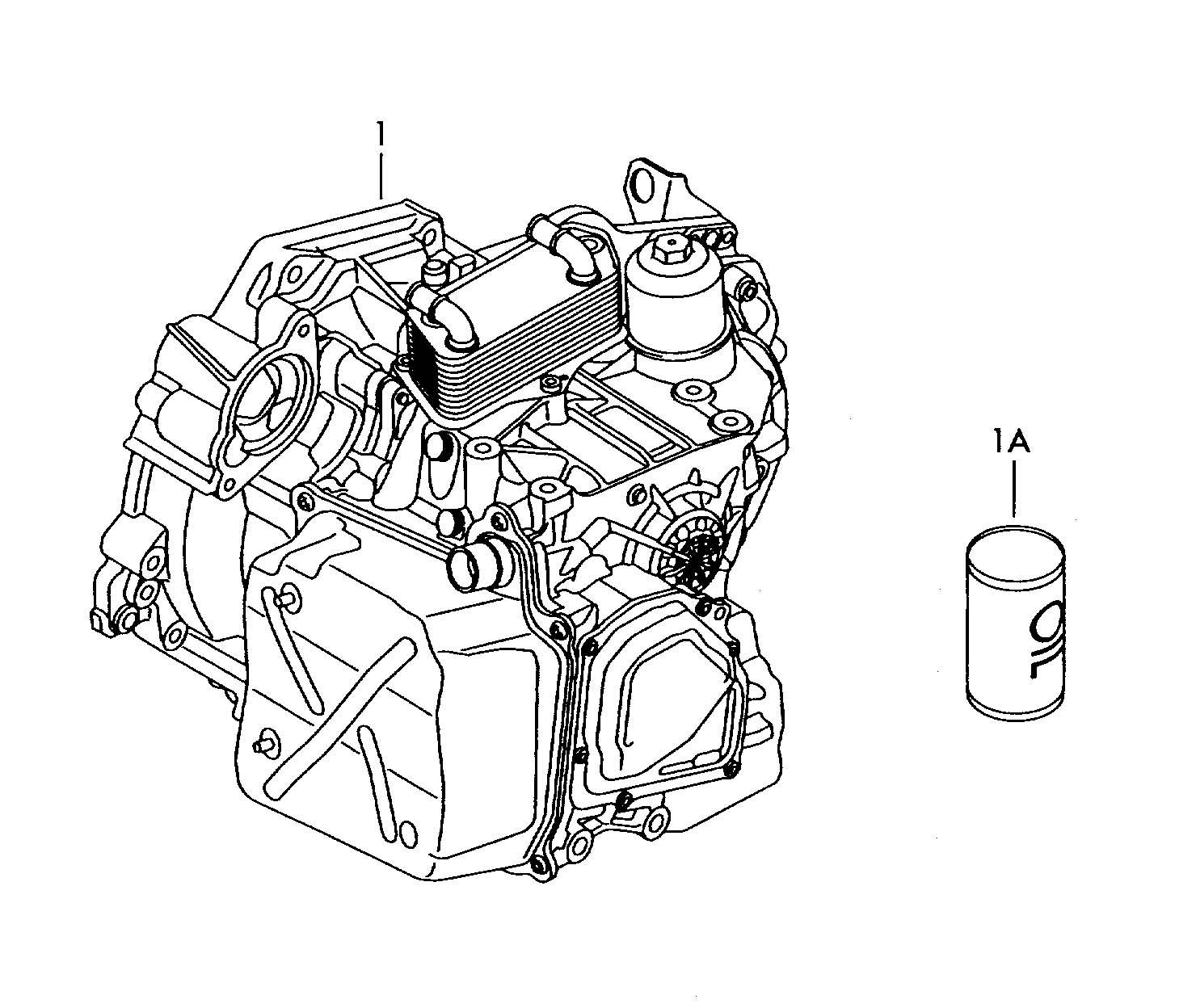 Volkswagen Passat 6-speed dual clutch gearbox transmission