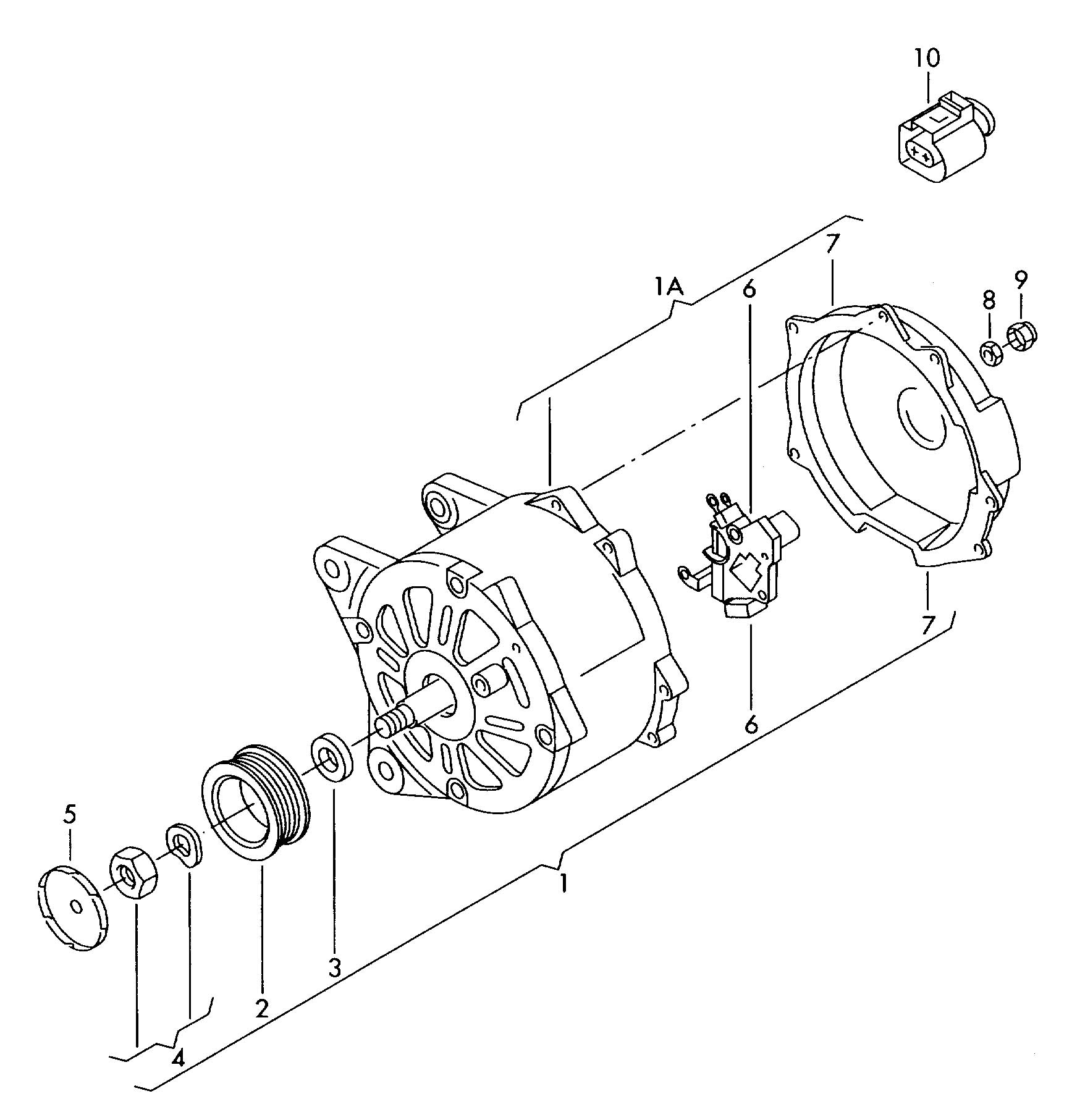 Volkswagen Tiguan Voltage regulator as required use: for