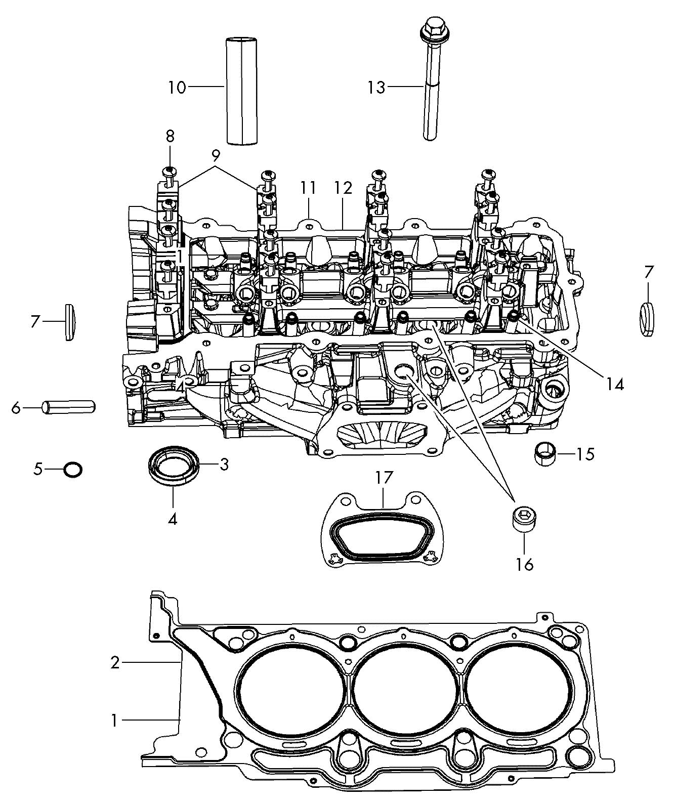 Volkswagen Routan Cylinder Head