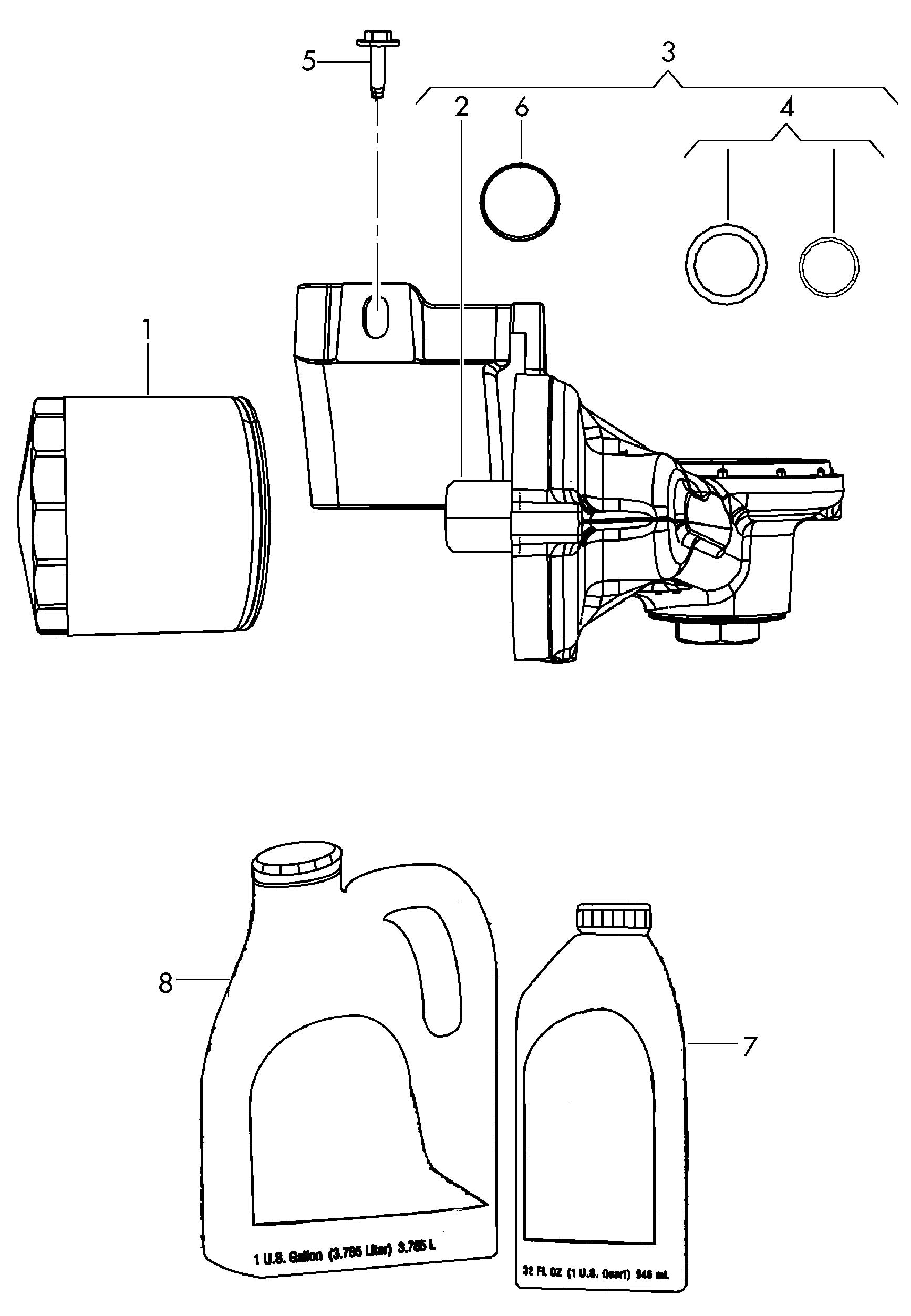 Volkswagen Routan Oil Filter Adapter Oil Filter Bracket