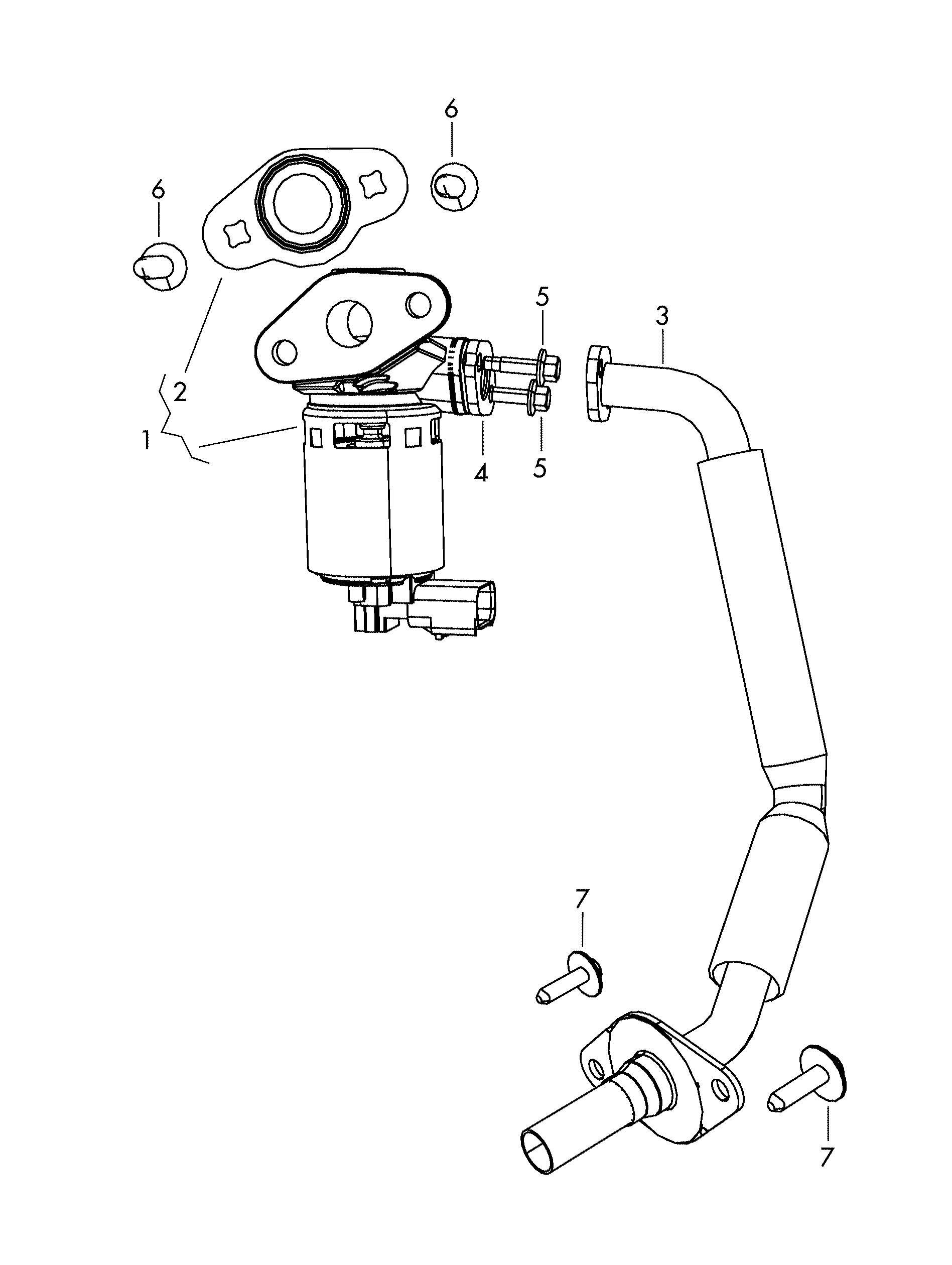Volkswagen Routan 4.0L 6 Cylinder Egr valve. EXHAUST