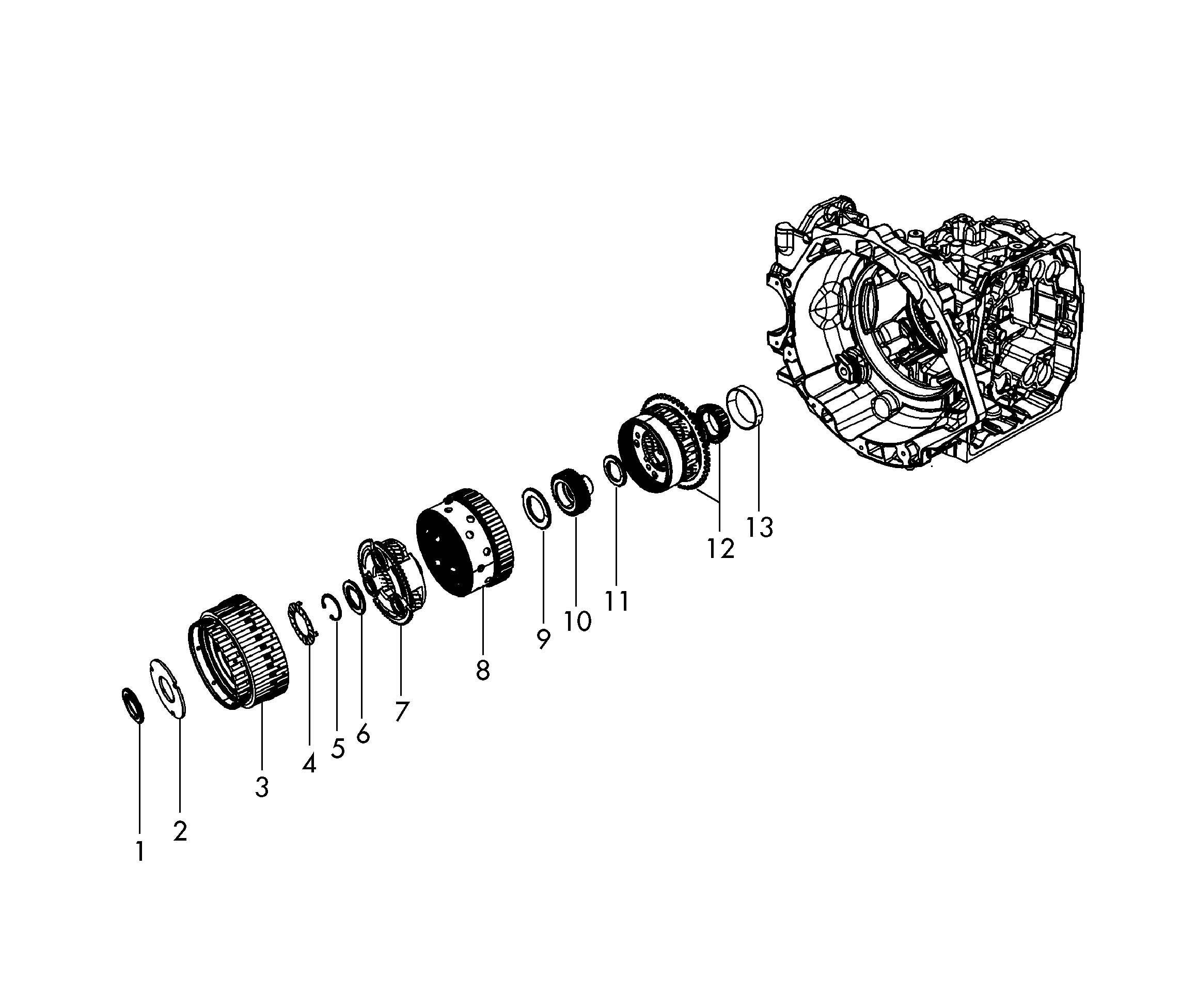 Volkswagen Routan Axial (thrust) bearing. THRUST BEARING