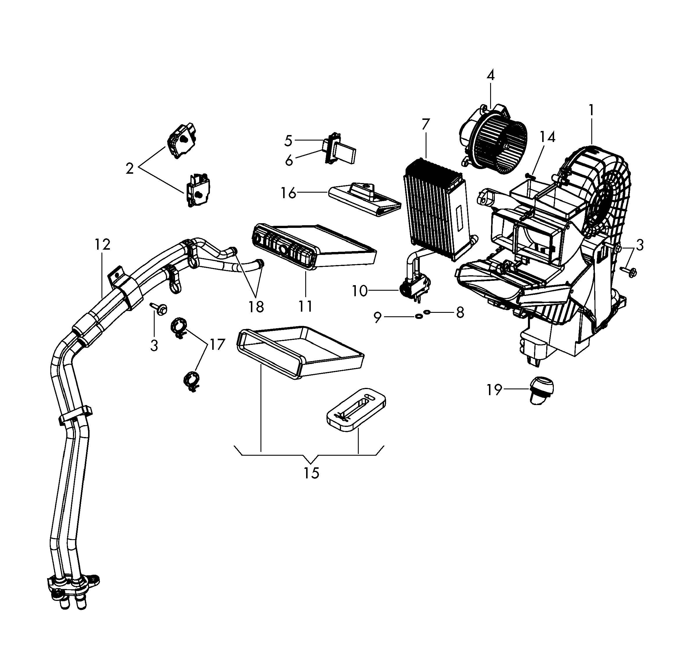Volkswagen Routan Evaporator With Expansion Valve Ac