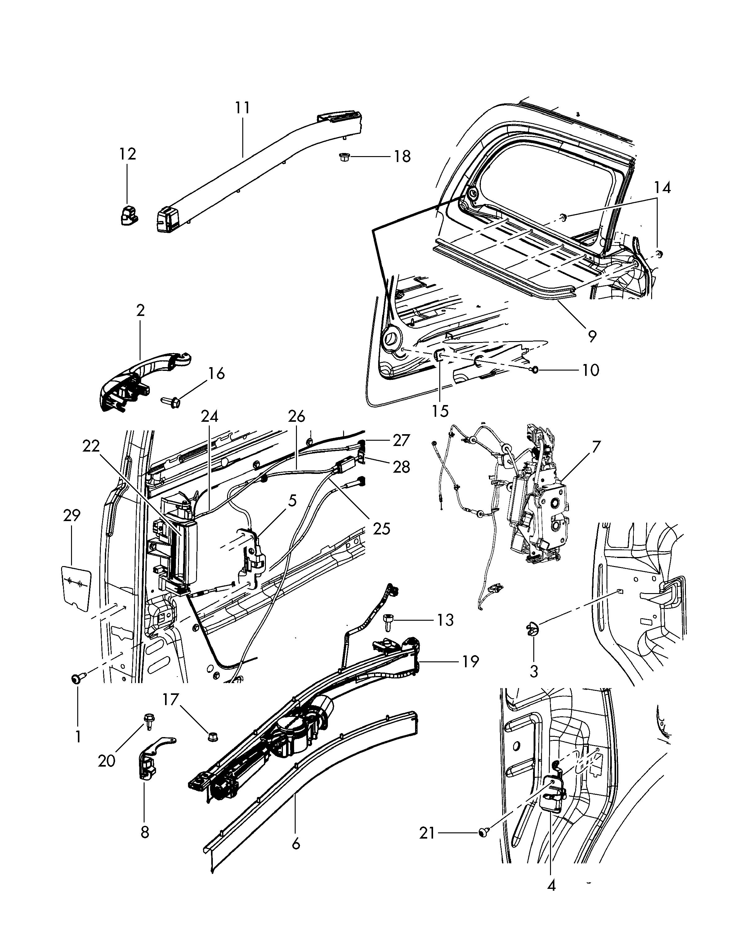 Service manual [How To Remove Sliding Door Cable 2011